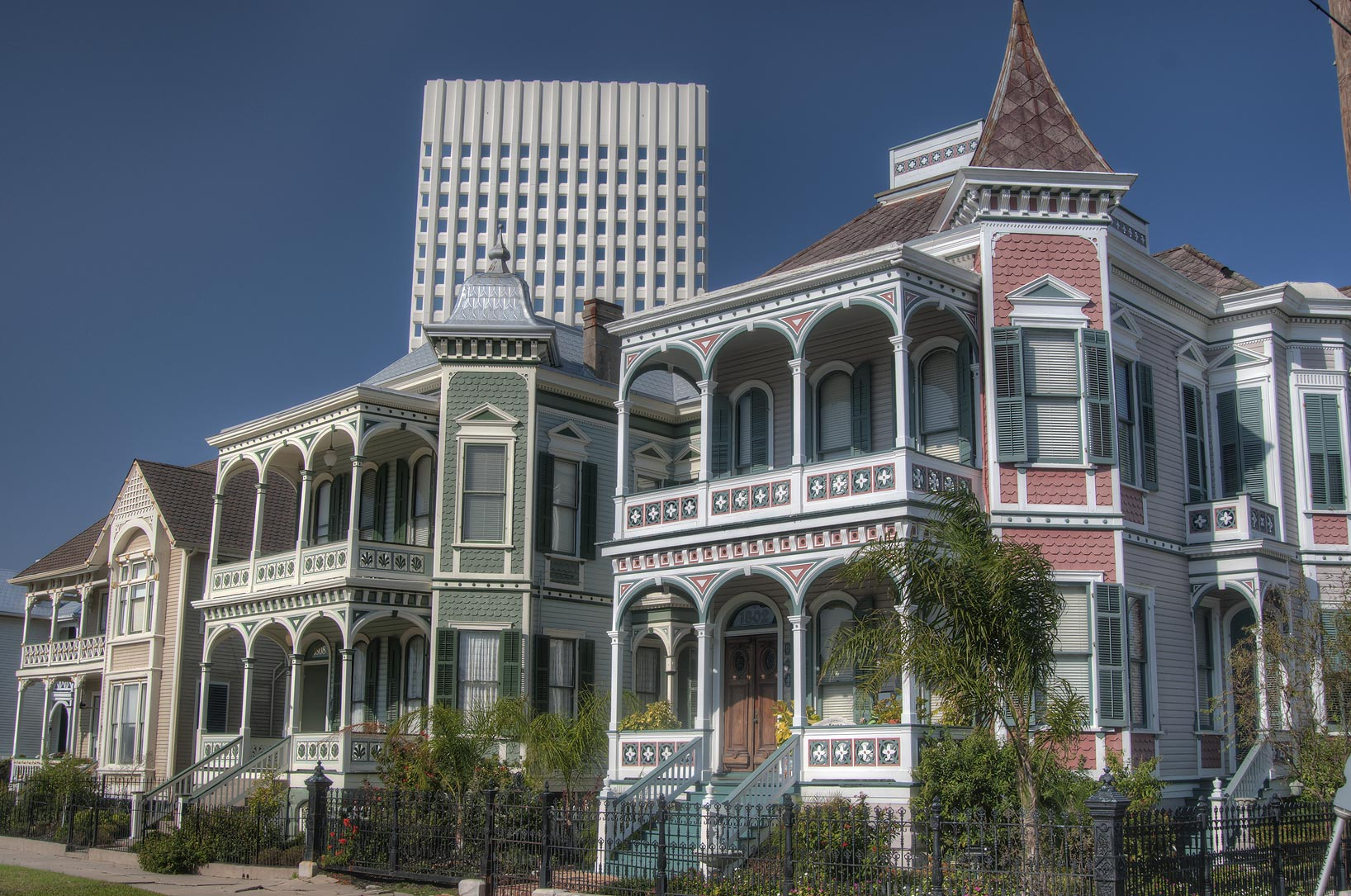 Jake Davis house on Postoffice St. in East End...a corner of 18th St.. Galveston, Texas
