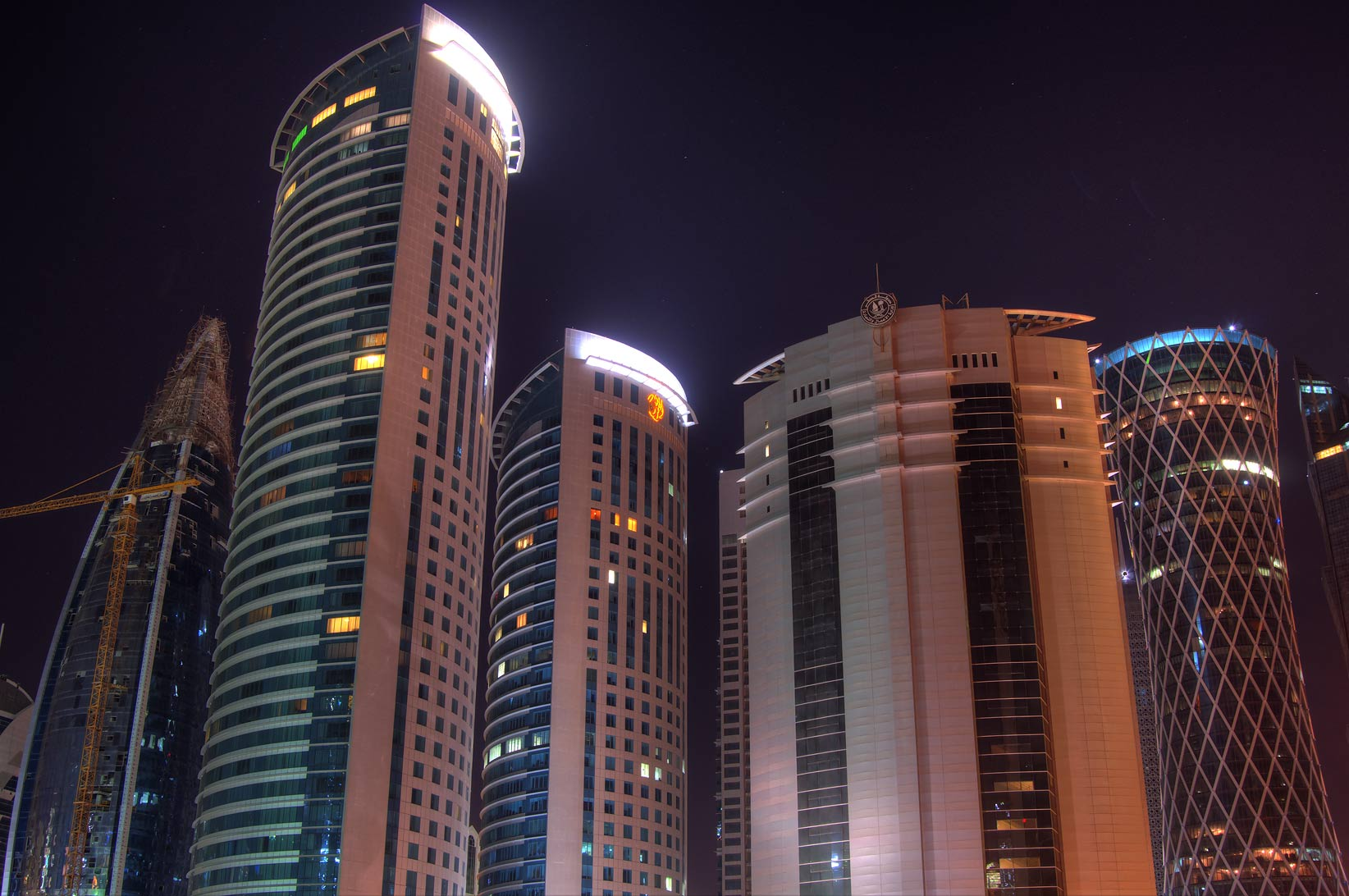 West Bay towers behind City Center. Doha, Qatar