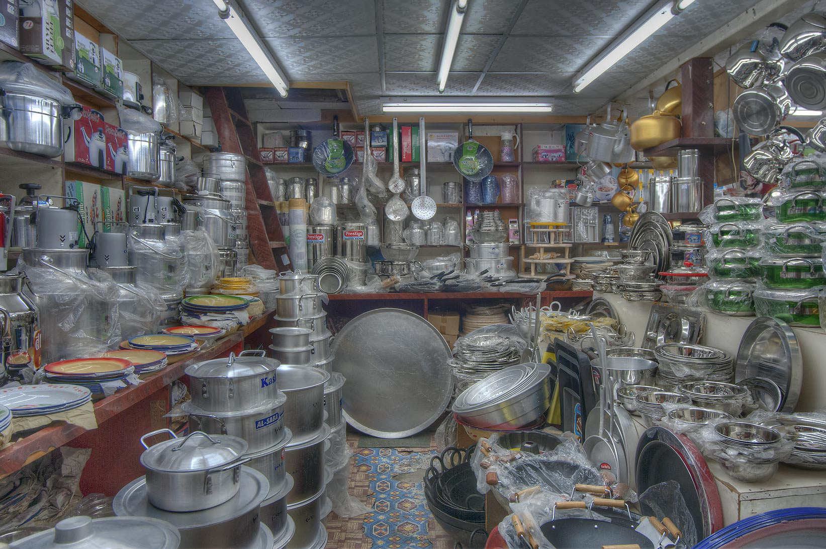 Kitchenware store in Souq Waqif (Old Market). Doha, Qatar