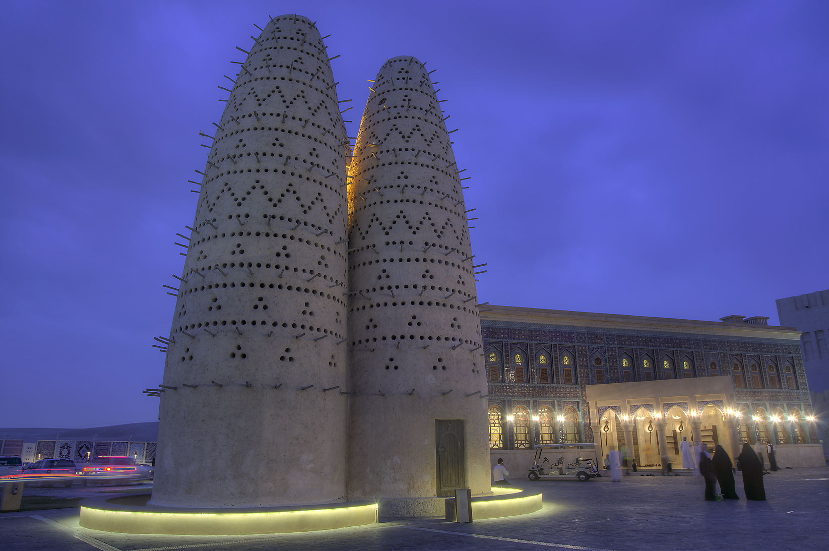 Traditional Arabian pigeon house (dovecot) in Katara Cultural Village. Doha, Qatar