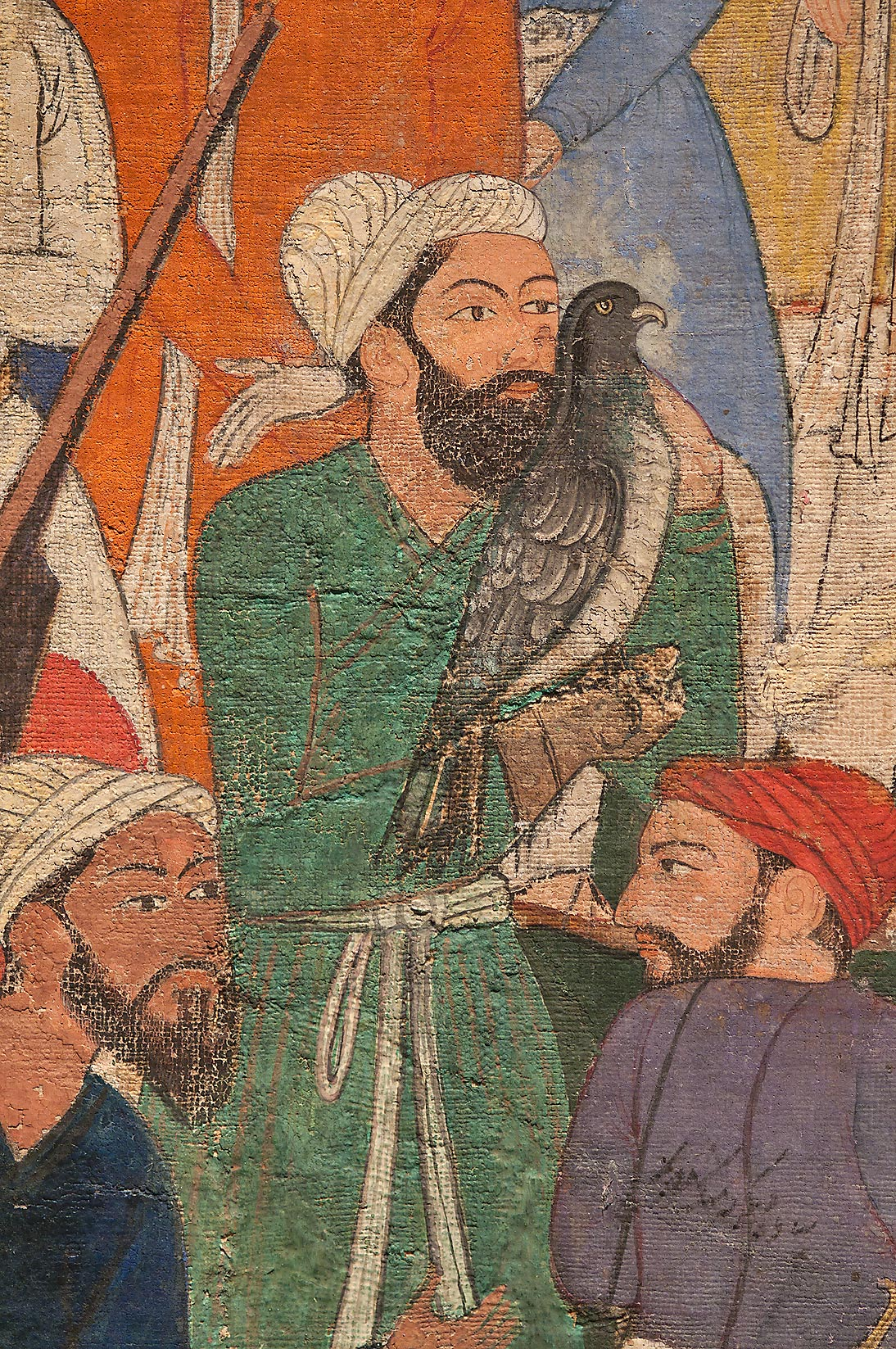 "Fragment of watercolor painting ""Umar Comes to...in Museum of Islamic Art. Doha, Qatar"