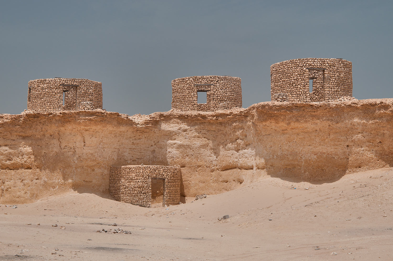 Stone hut remained from television production in...area, north from Zekreet. Qatar