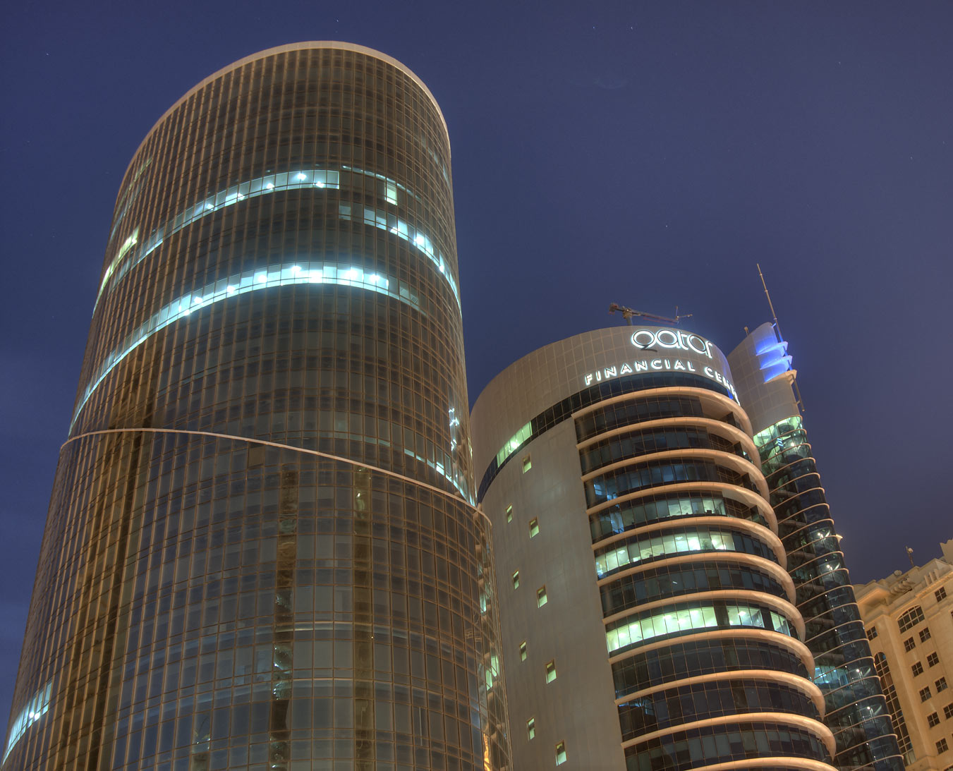 West Bay from Towers Intersection near City Center Mall. Doha, Qatar