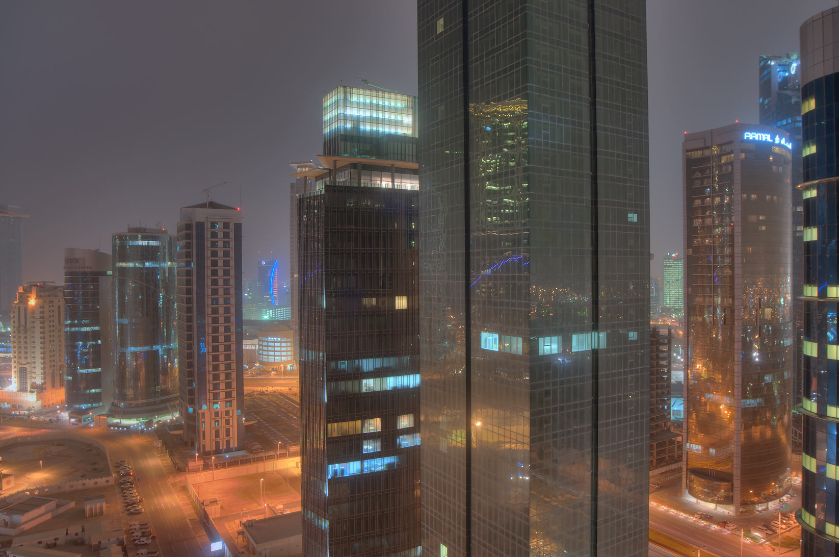 Amwal Tower in West Bay, view to the south from a...2303 of ASAS Tower West. Doha, Qatar