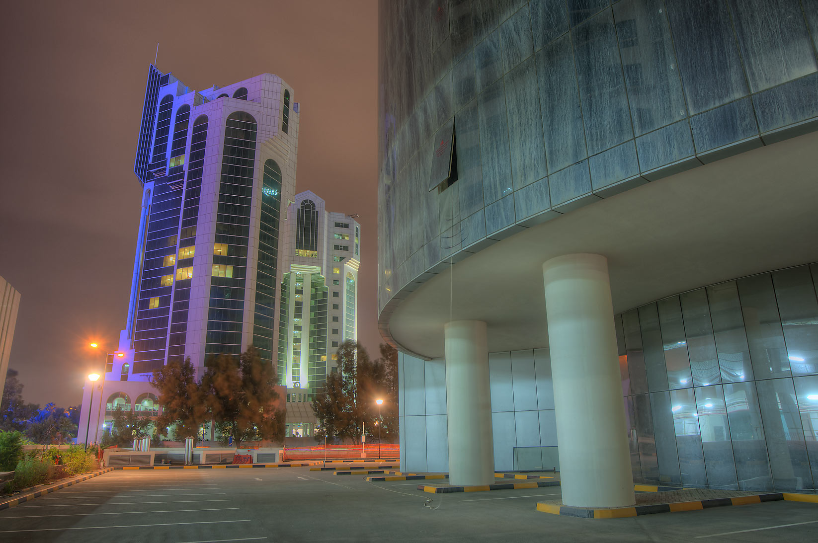 Doha, Qatar  - Salam Towers in West Bay. Doha, Qatar
