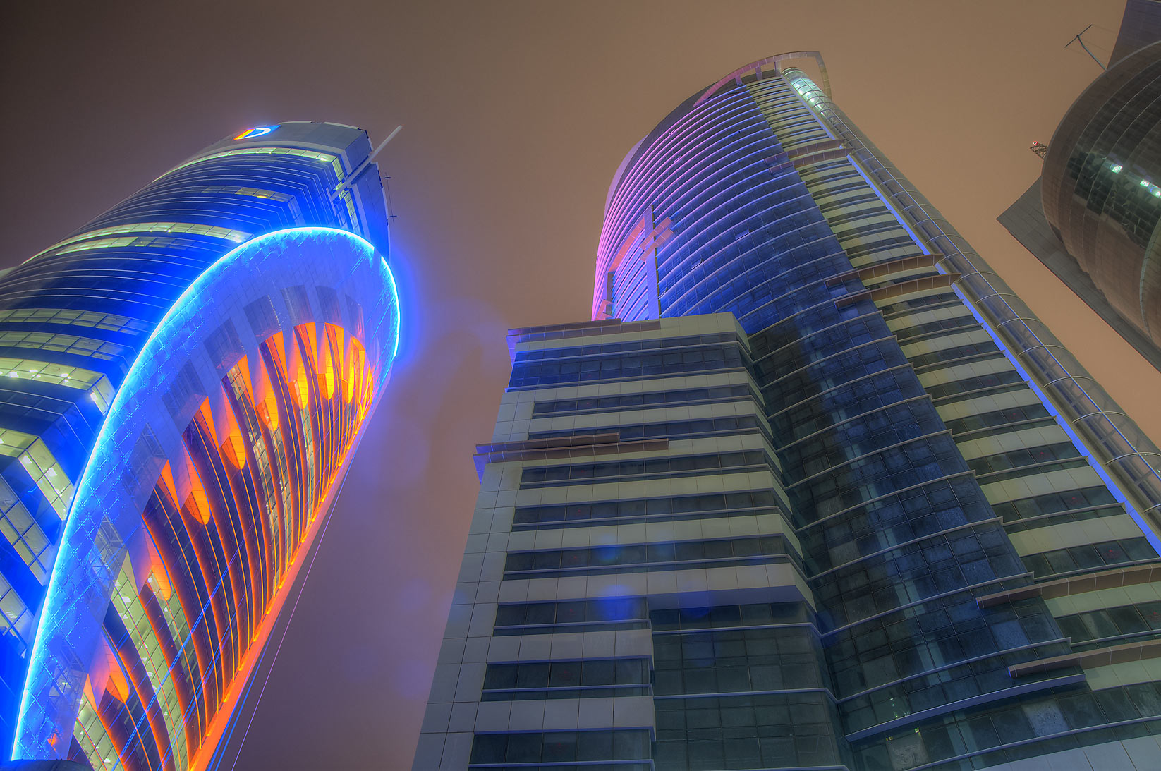 Doha Bank and Ramez towers in West Bay. Doha, Qatar