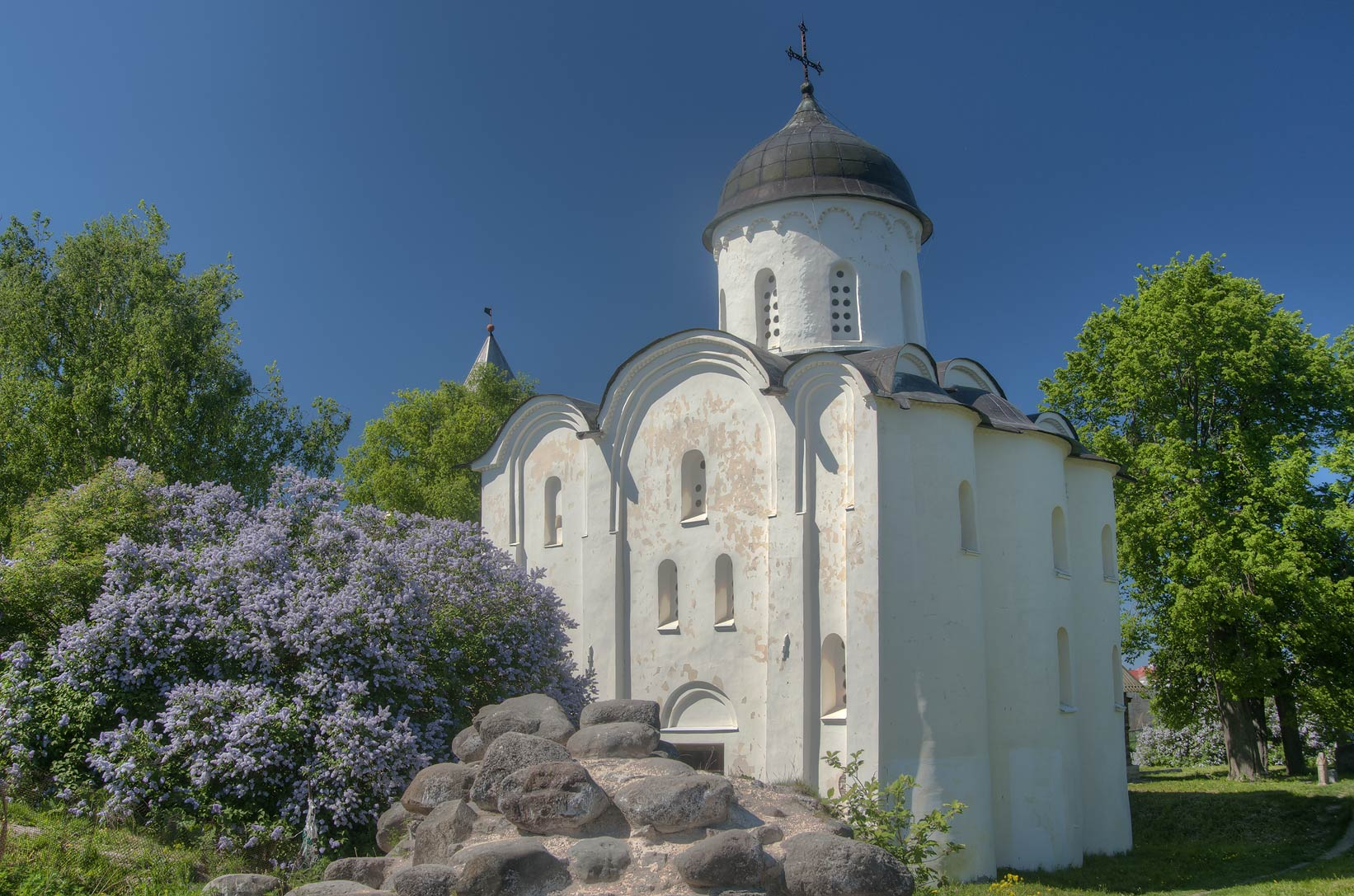 St.George's Cathedral in Old (Staraya) Ladoga...east from St.Petersburg, Russia