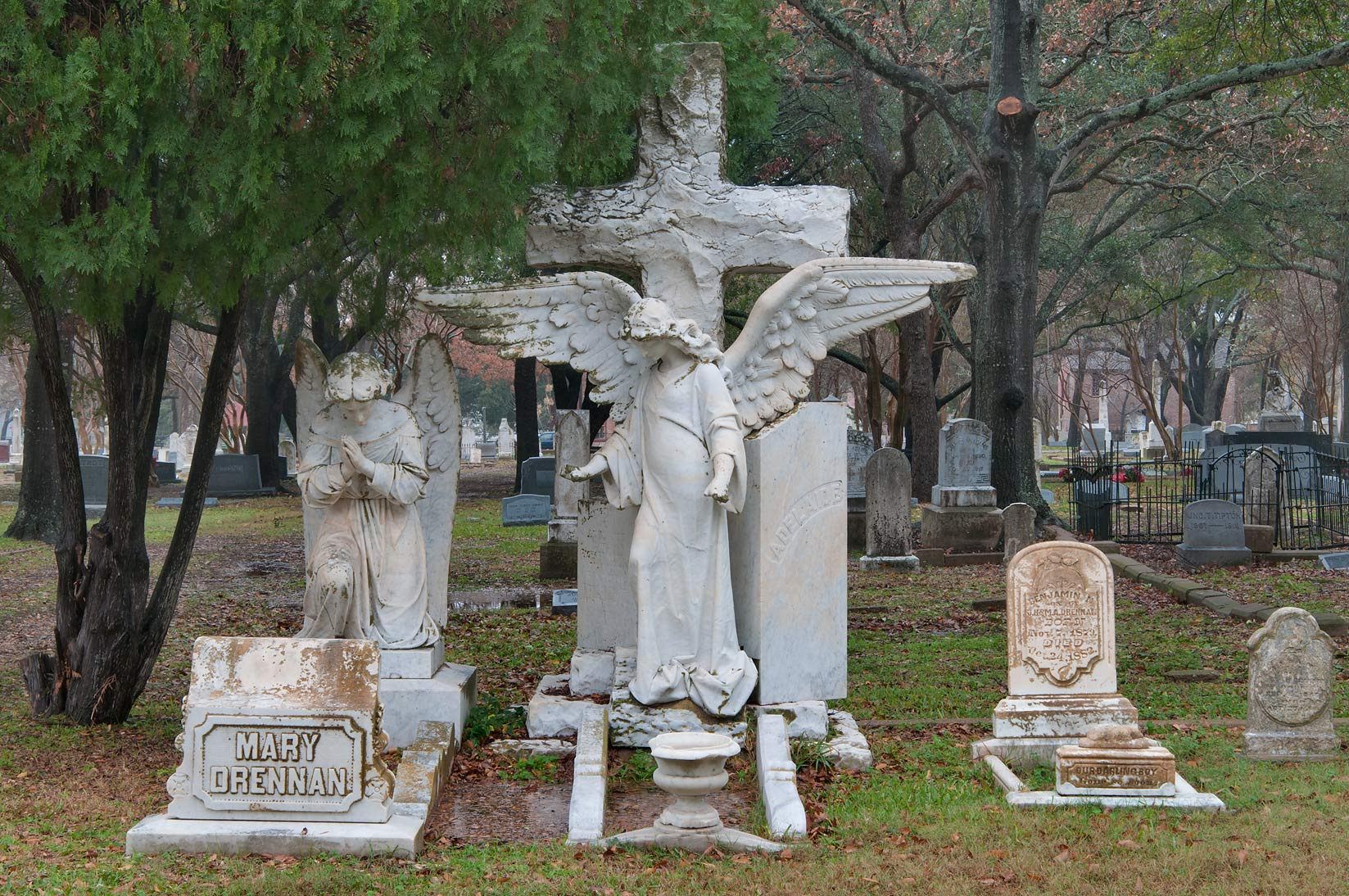 Tomb of Mary Drennan in Calvert Cemetery. Calvert, Texas
