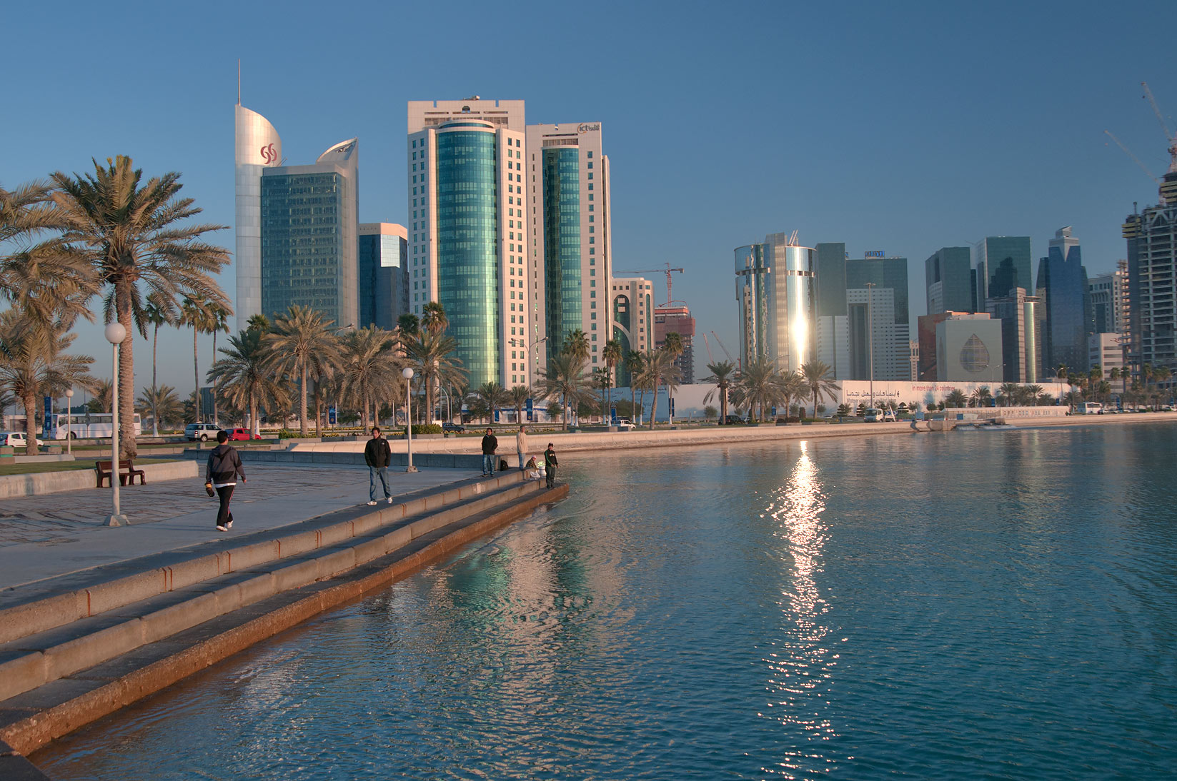 Corniche, view from area near Balhambar Restaurant. Doha, Qatar