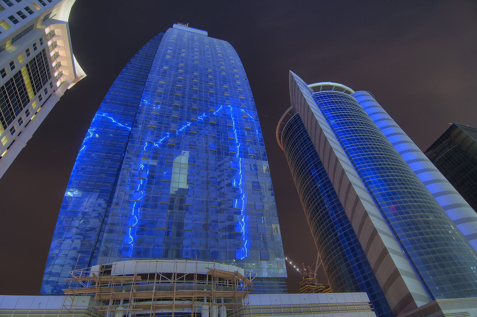 Al Huda Engineering Works and Taawun towers in West Bay. Doha, Qatar