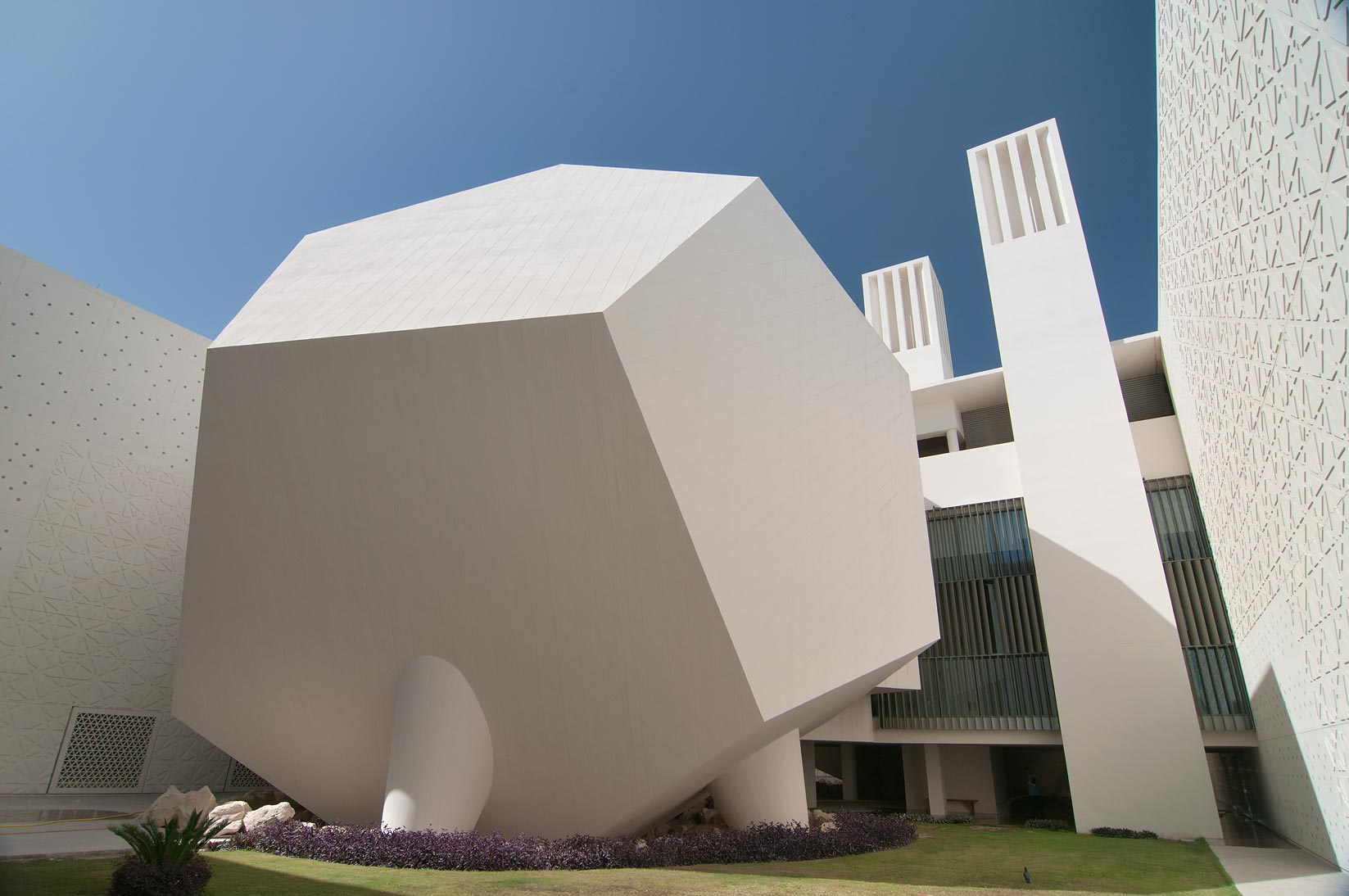 Dodecahedron lecture hall of Weill Cornell Medical College in Education City. Doha, Qatar