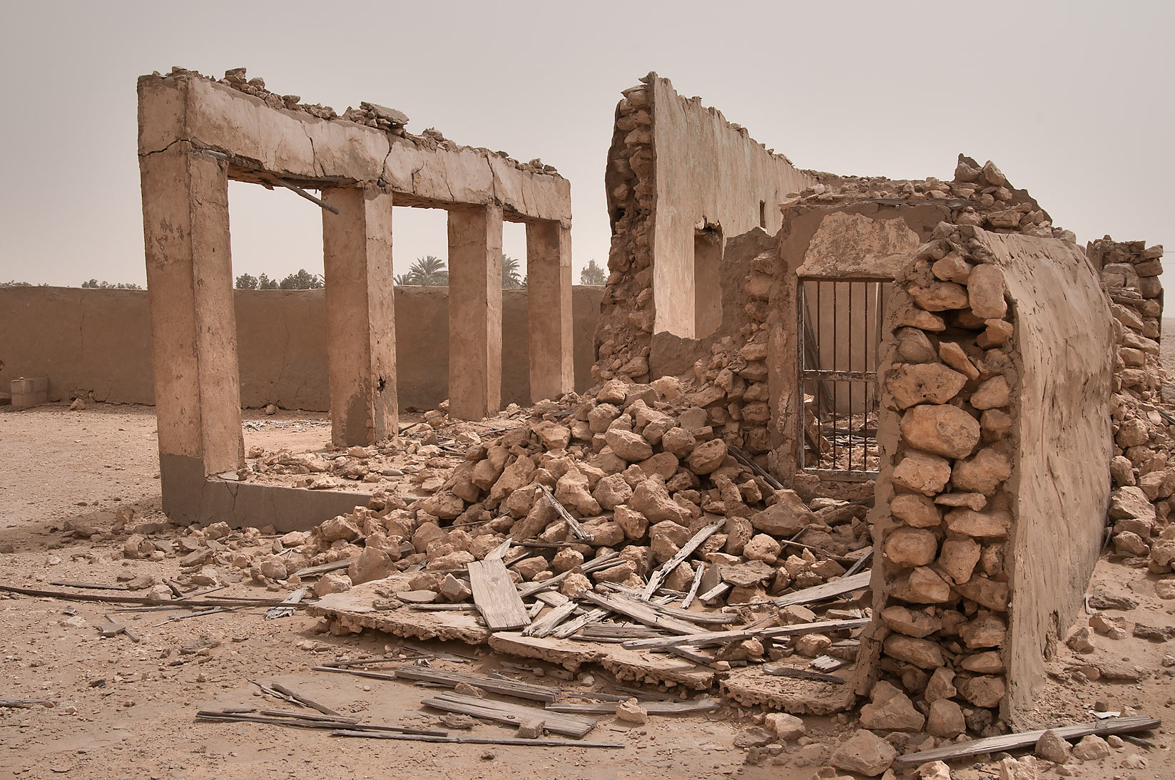 Ruins of a school of old village of Jamilla in Al-Jumayliyah (Aljumileh). Qatar