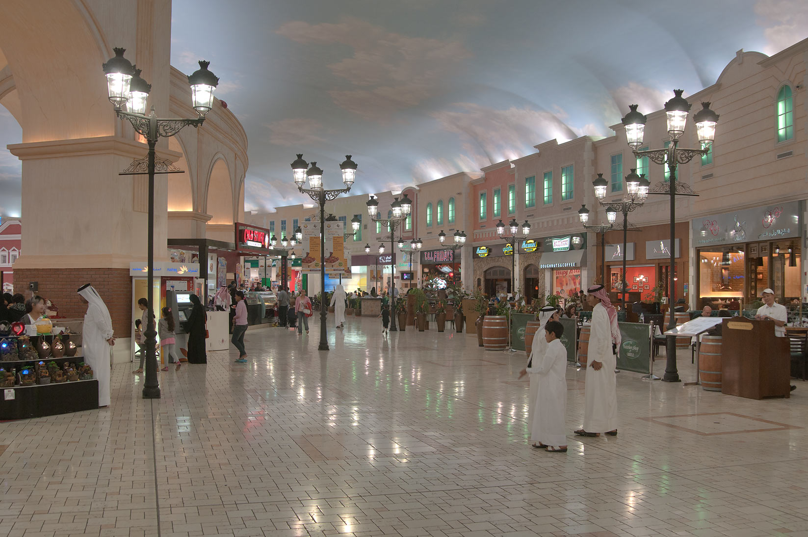 Souvenir shops in Villagio Shopping Mall, Aspire Zone. Doha, Qatar