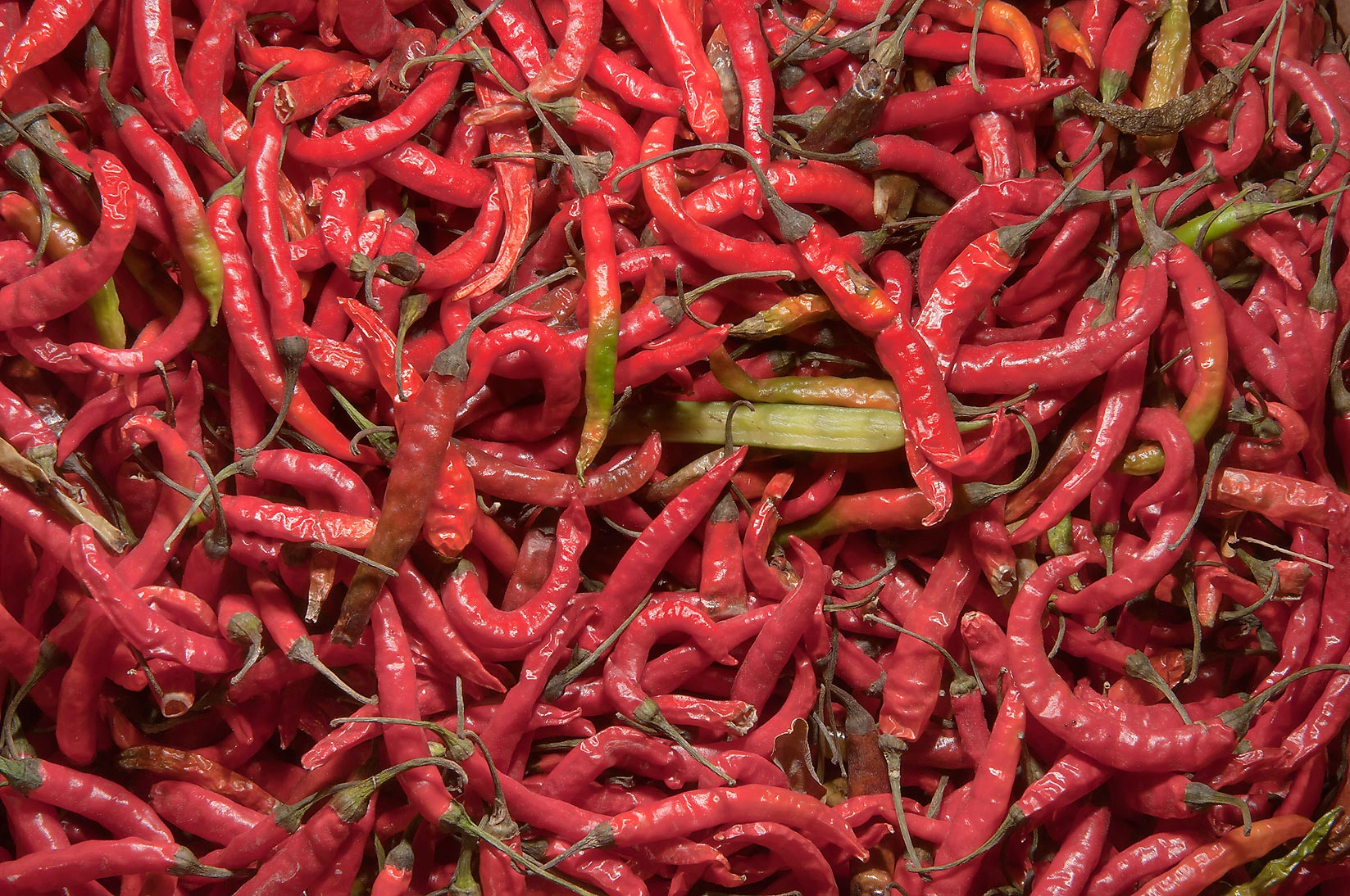 Red hot pepper in Vegetable Market, Wholesale Markets area. Doha, Qatar