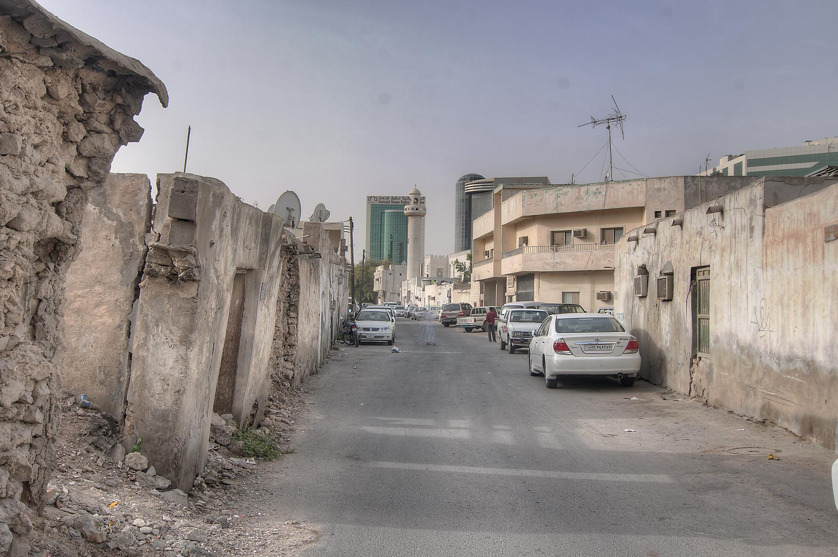 Remains of old city near Umm Wishah St. in Musheirib area. Doha, Qatar