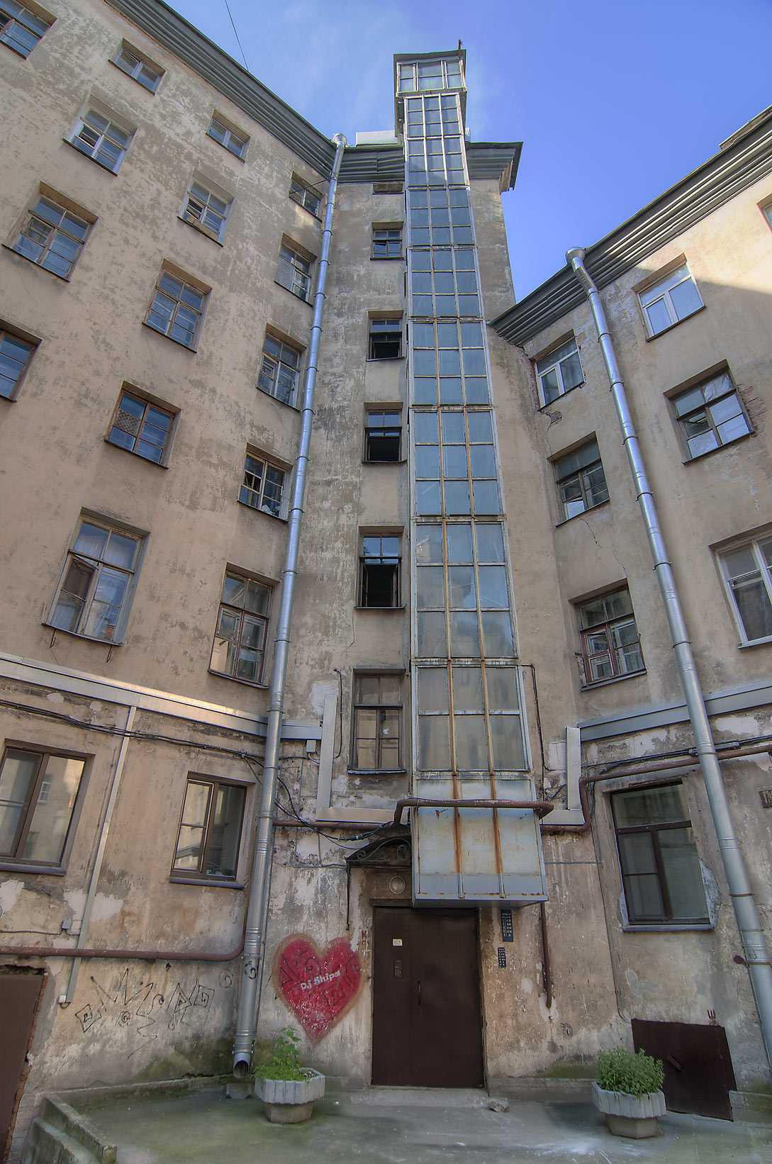 Elevator shaft near Liteyny Prospect. St.Petersburg, Russia