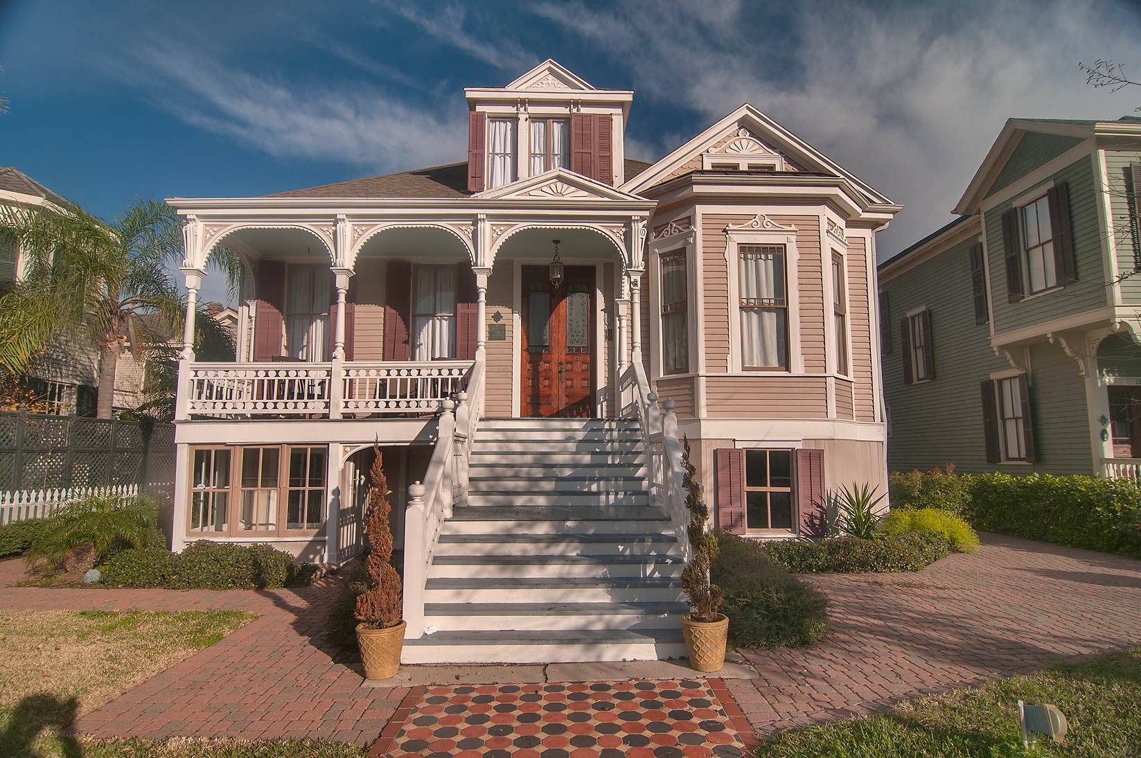 Ball St. in East End Historic District. Galveston, Texas