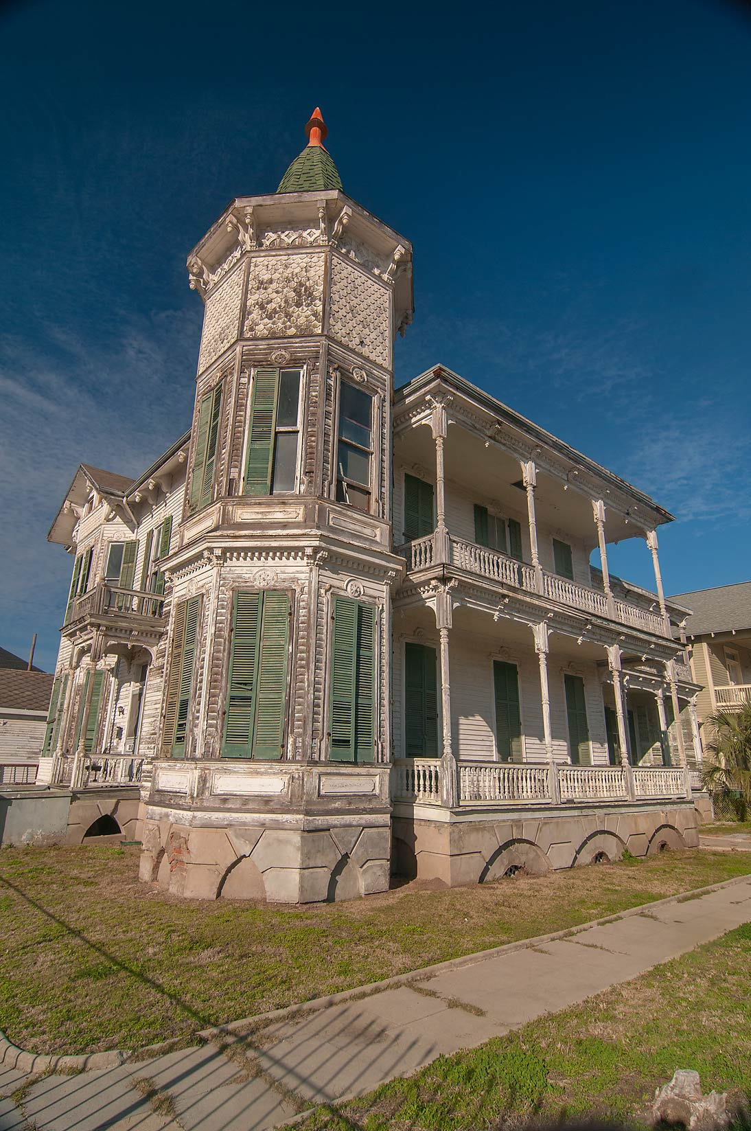 Gustave Heye house (c. 1880) at 1226 Postoffice...a corner of 13th St.. Galveston, Texas