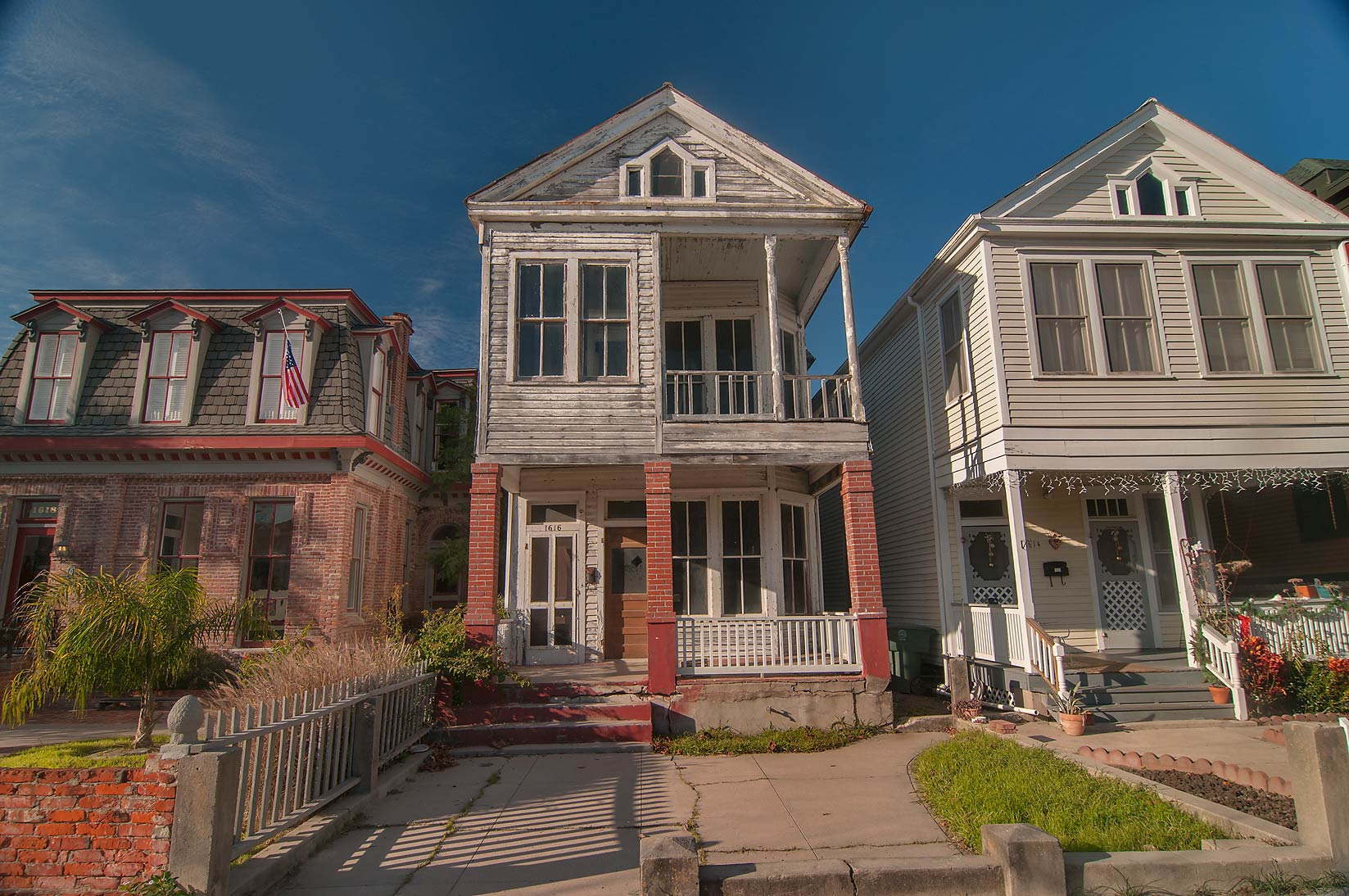 Area of Church St. in East End Historic District. Galveston, Texas