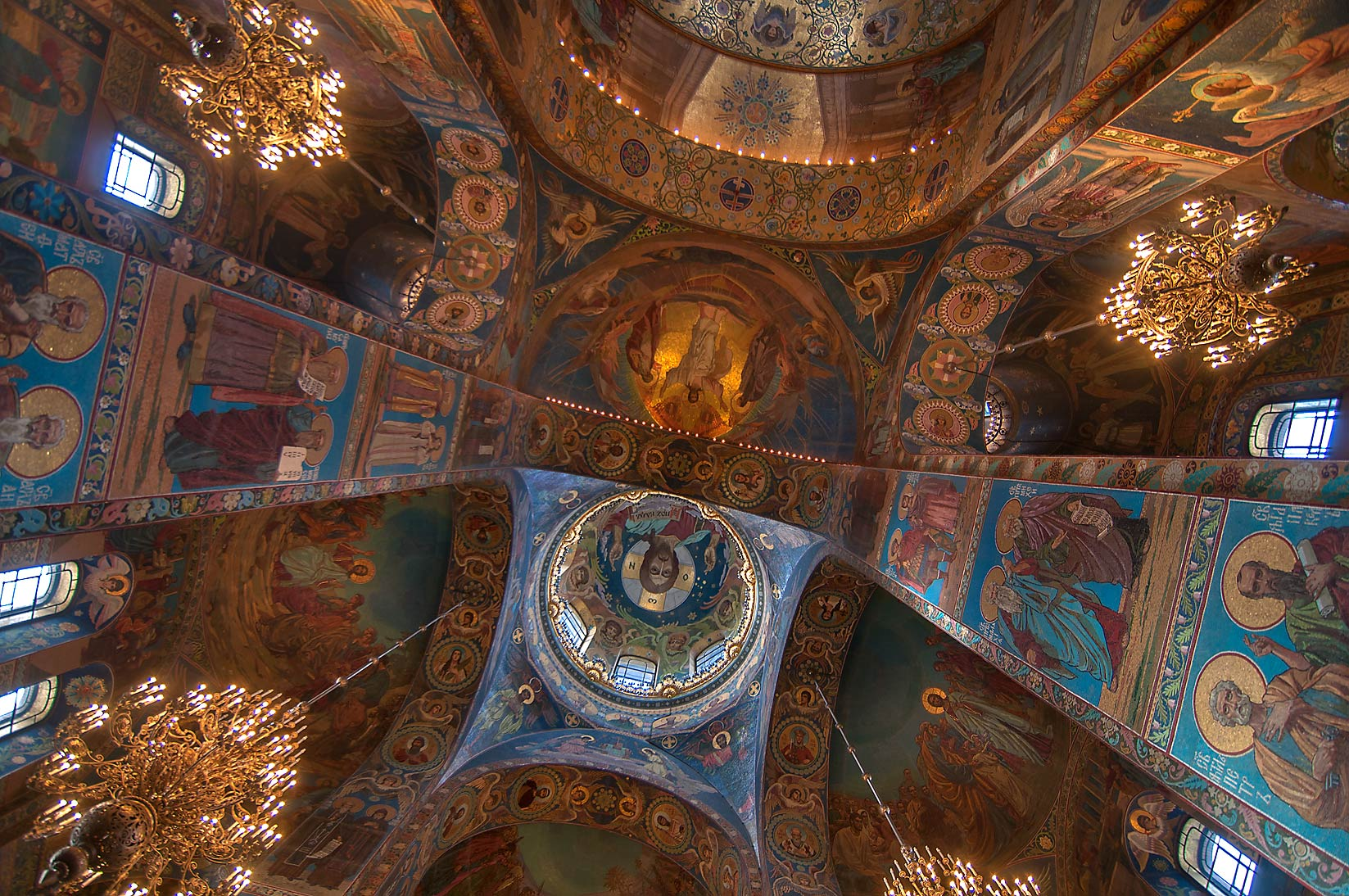 Side vaults of Church of Savior on Blood. St.Petersburg, Russia