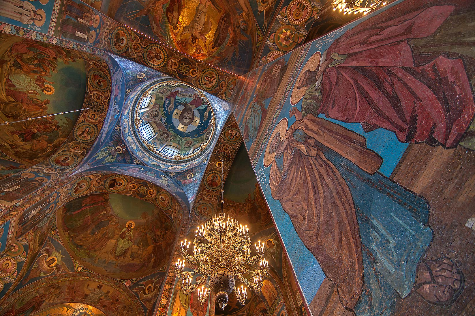 Paintings of Church of Savior on Blood. St.Petersburg, Russia