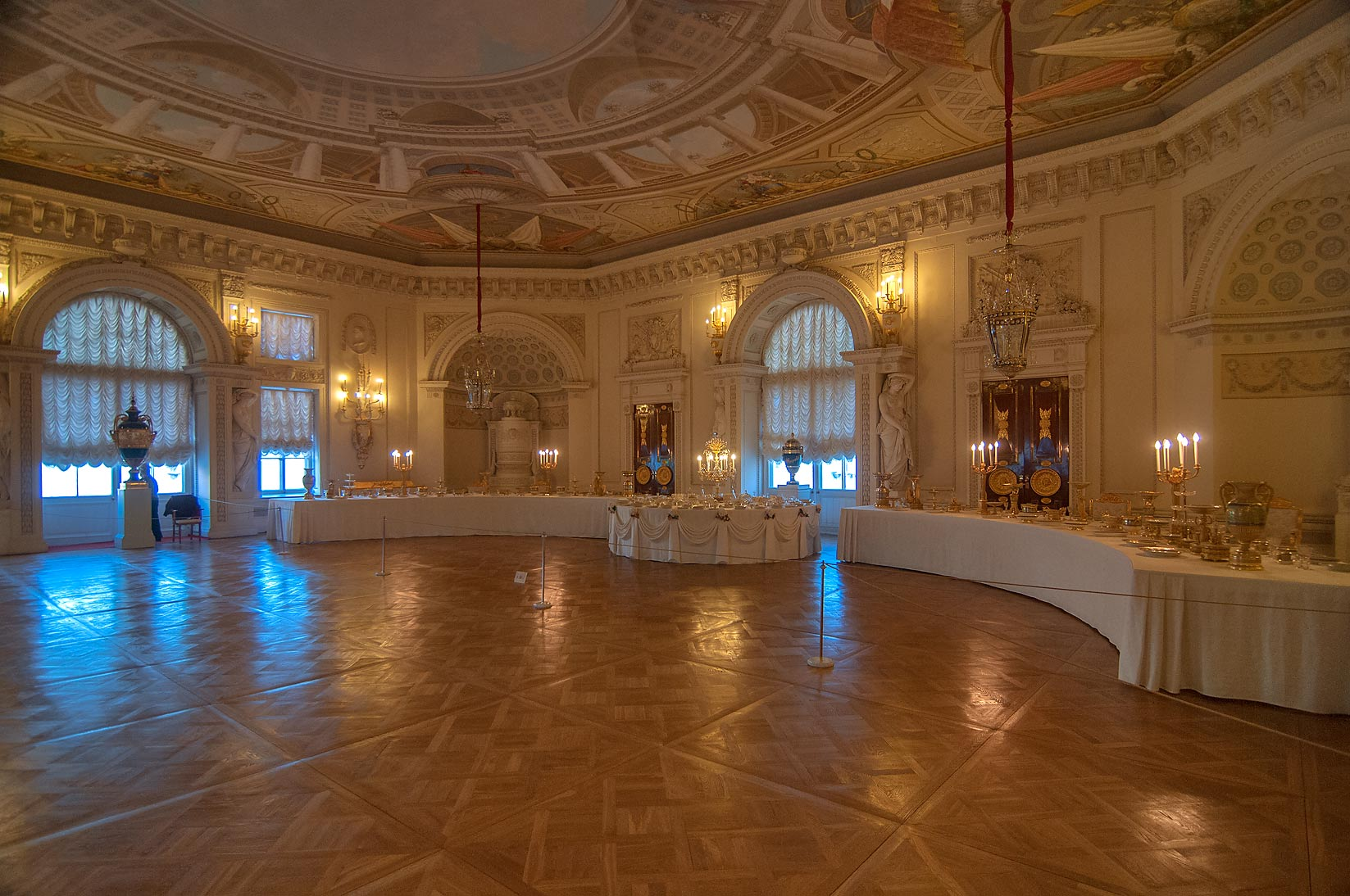 A dining room in Pavlovsky Palace. Pavlovsk, a suburb of St.Petersburg, Russia