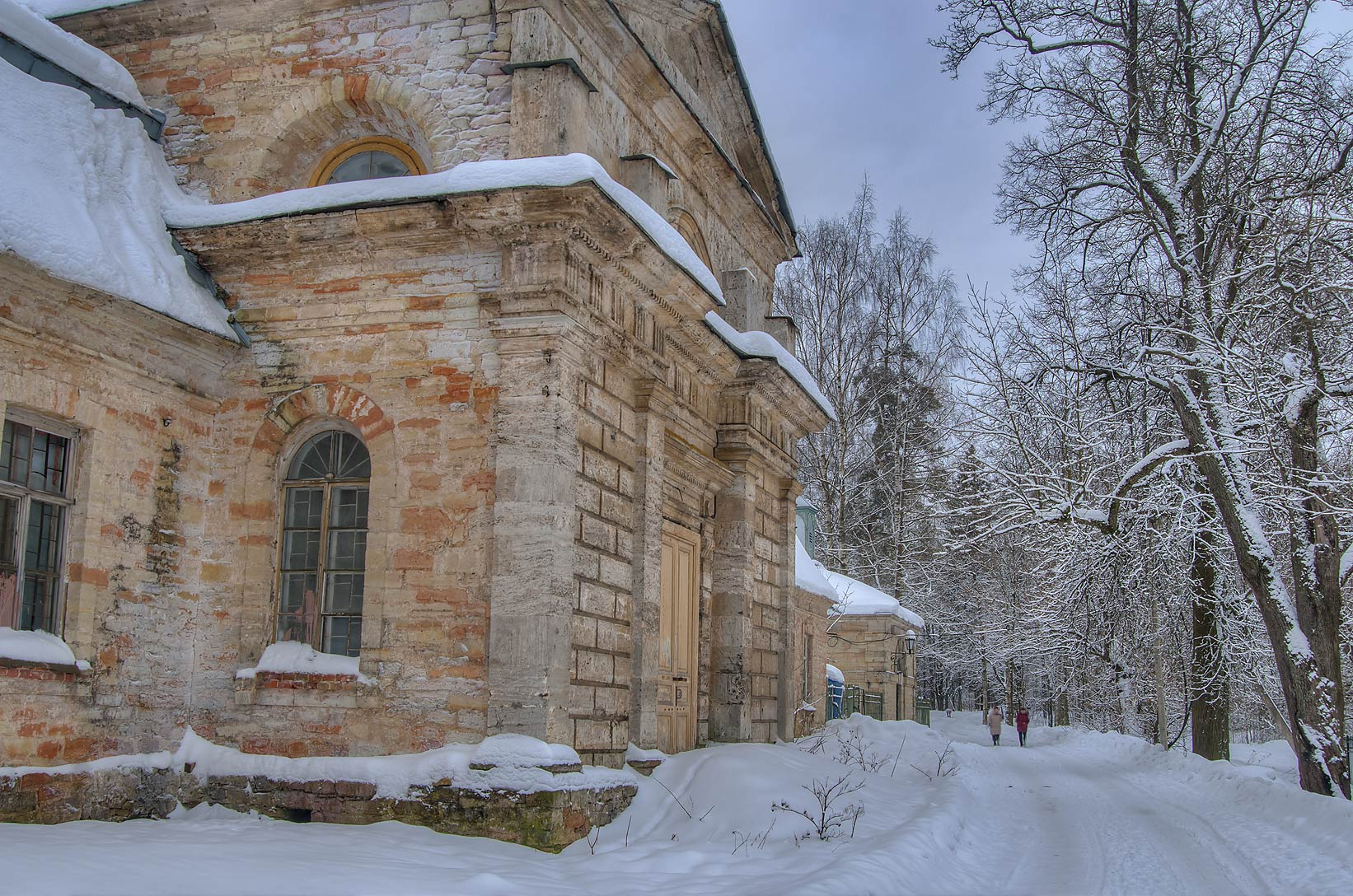 Entrance of the Farm in the park of Gatchina, suburb of St.Petersburg, Russia