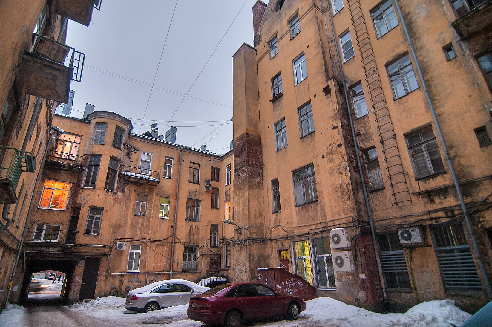 St.Petersburg-Vyborg, Russia  - Yards at 5 Lenina St.. Vyborg, Russia