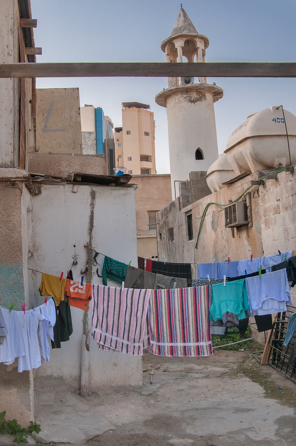 Drying laundry near Al Maymoun St., Musheirib area. Doha, Qatar