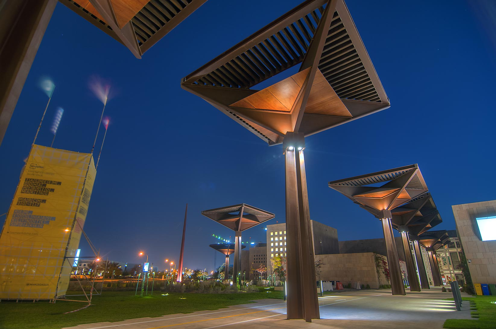 Student Center in Education City. Doha, Qatar