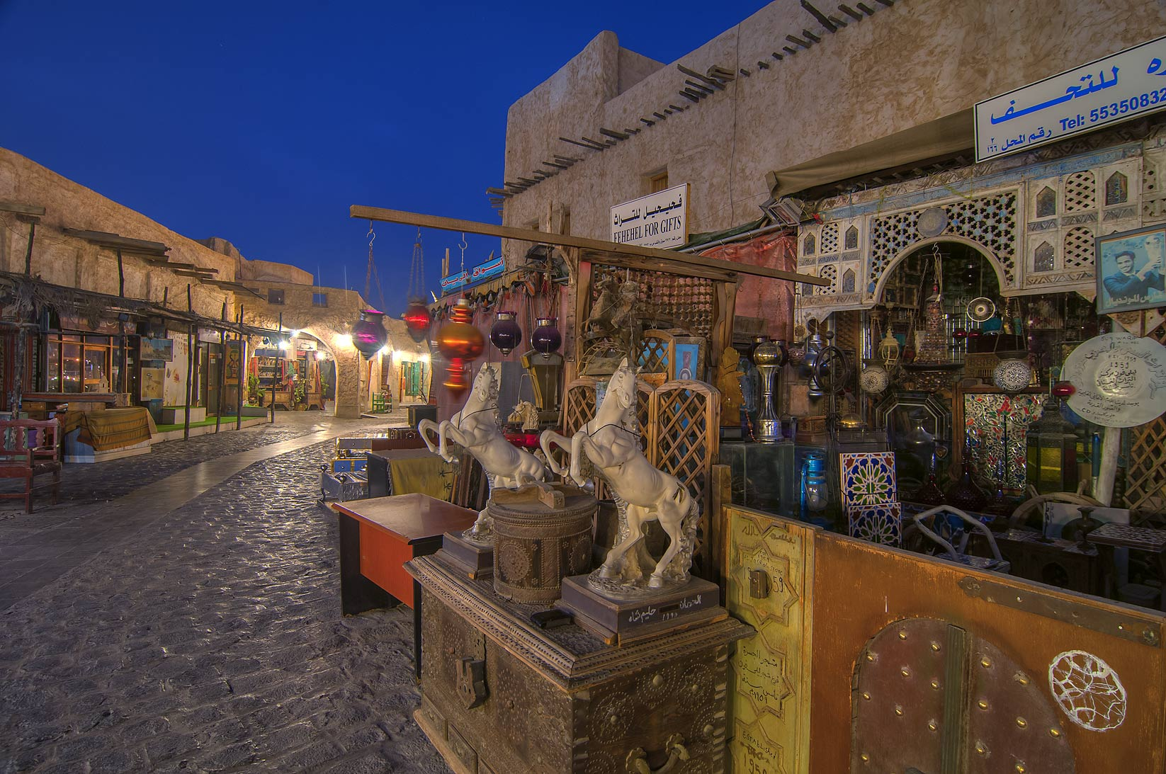 Main alley of Souq Waqif (Old Market). Doha, Qatar