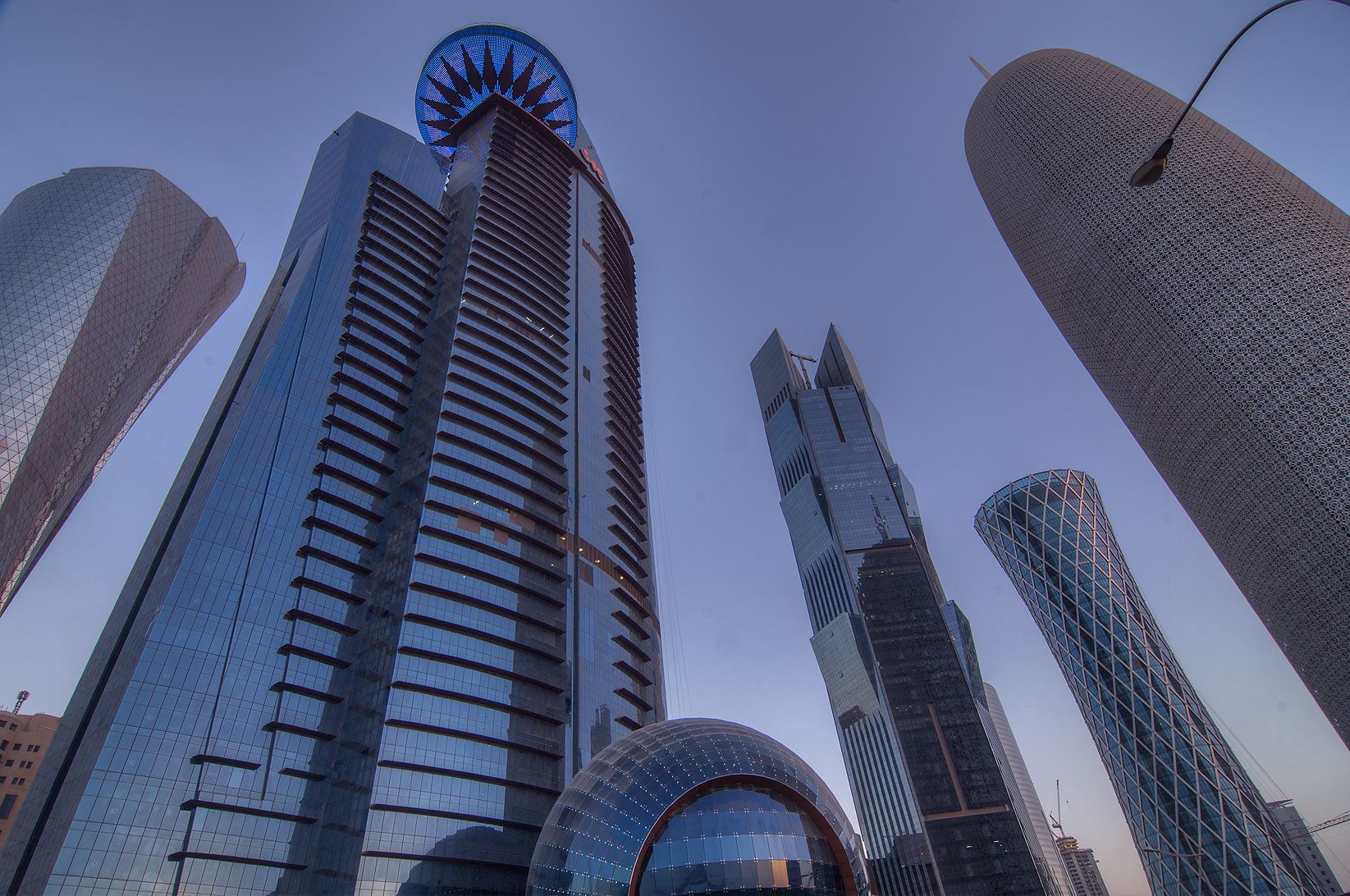 Area of WTC Tower in West Bay from Corniche. Doha, Qatar
