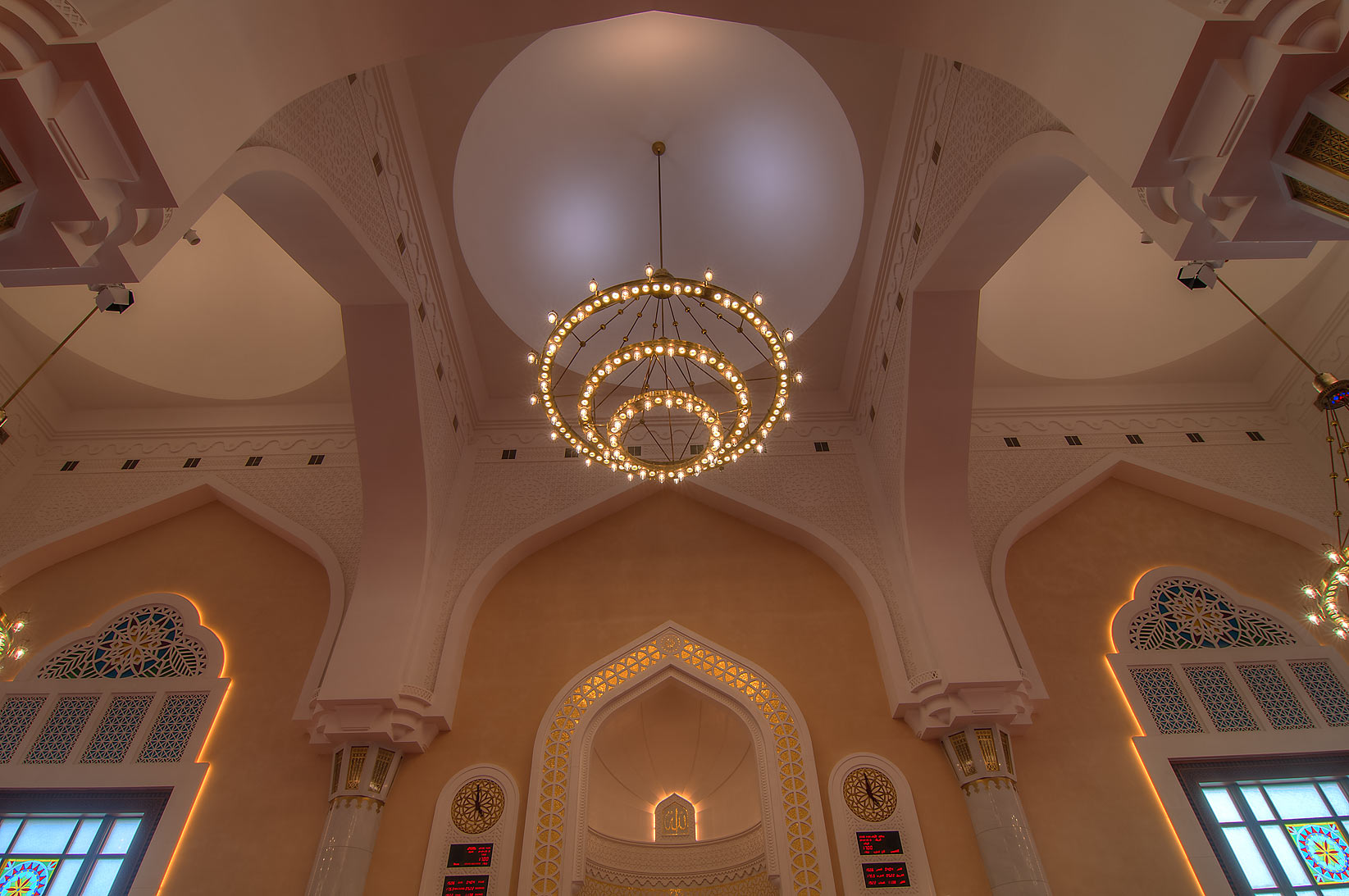 Area of mihrab (semicircular prayer niche) in...Ibn Abdul Wahhab Mosque). Doha, Qatar