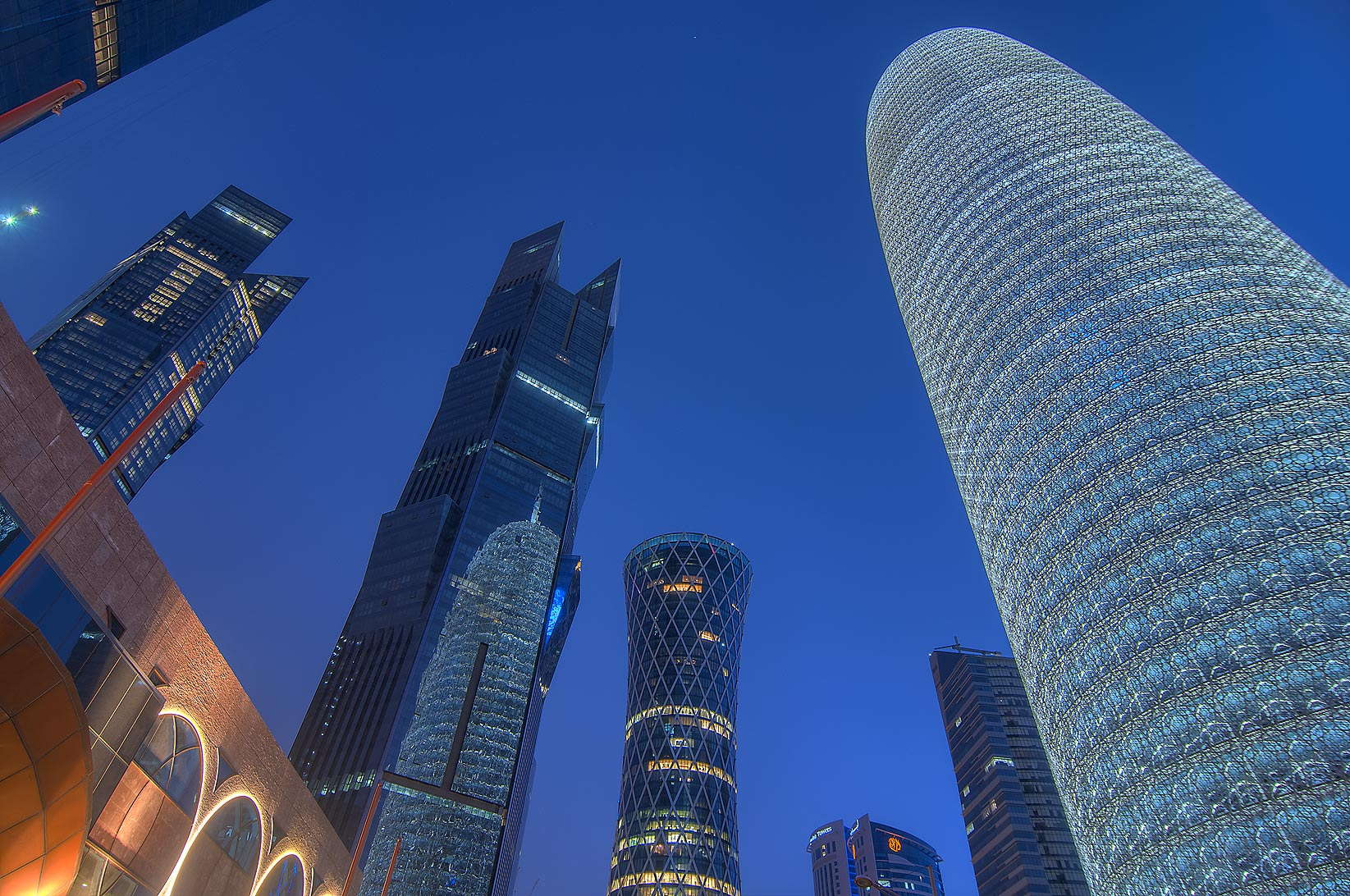 Area of WTC Tower in West Bay. Doha, Qatar
