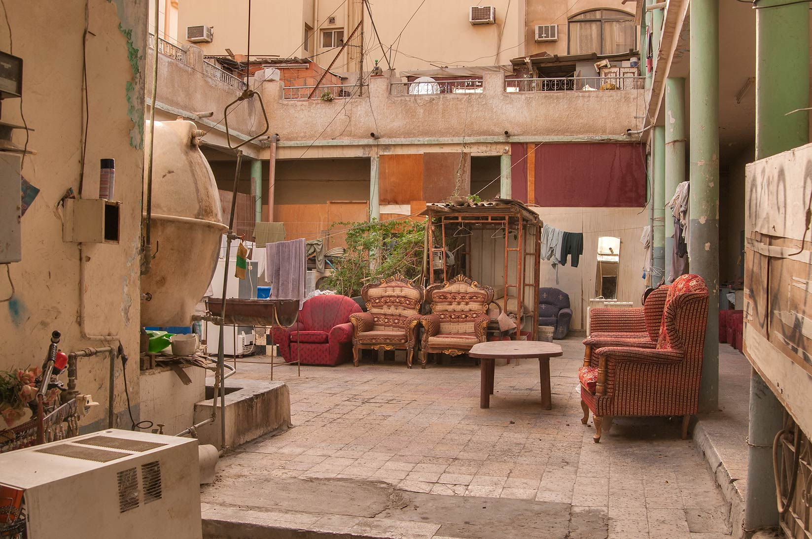 Living room of a large apartment at Hadramout St., Al Doha Al Jadeeda area. Doha, Qatar