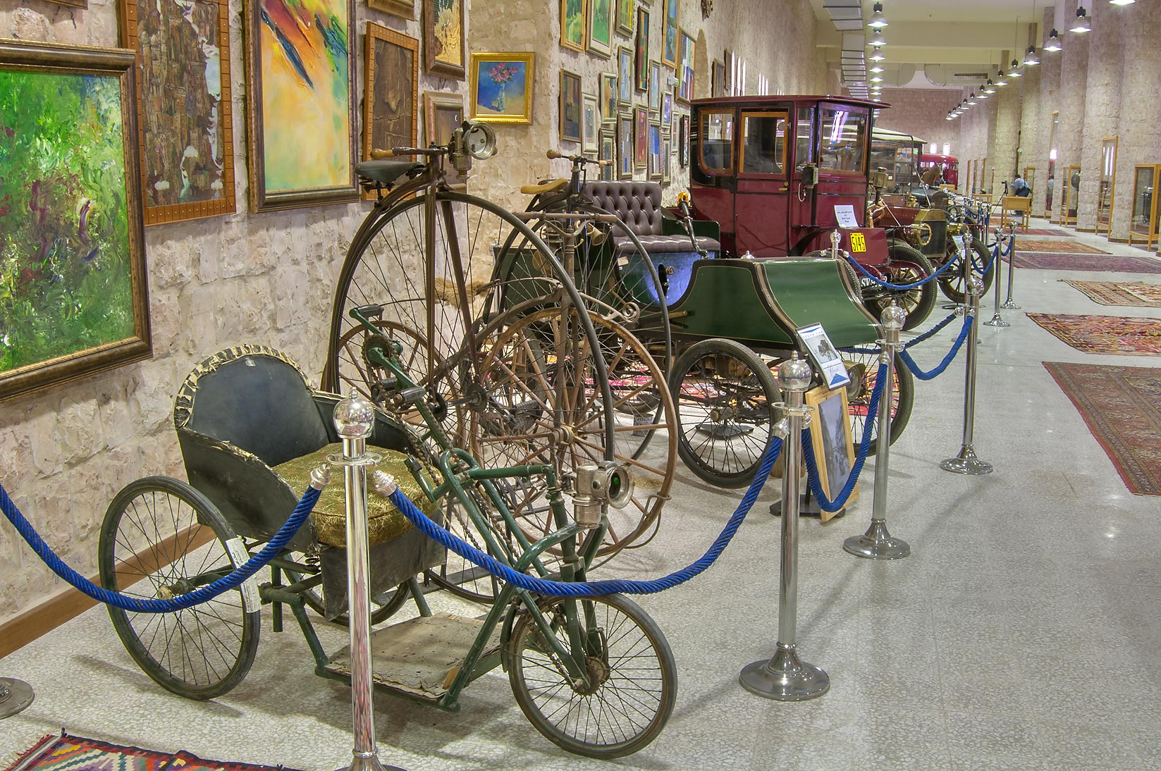 Classic bicycles and vehicles in Sheikh Faisal...Museum near Al-Shahaniya. Doha, Qatar
