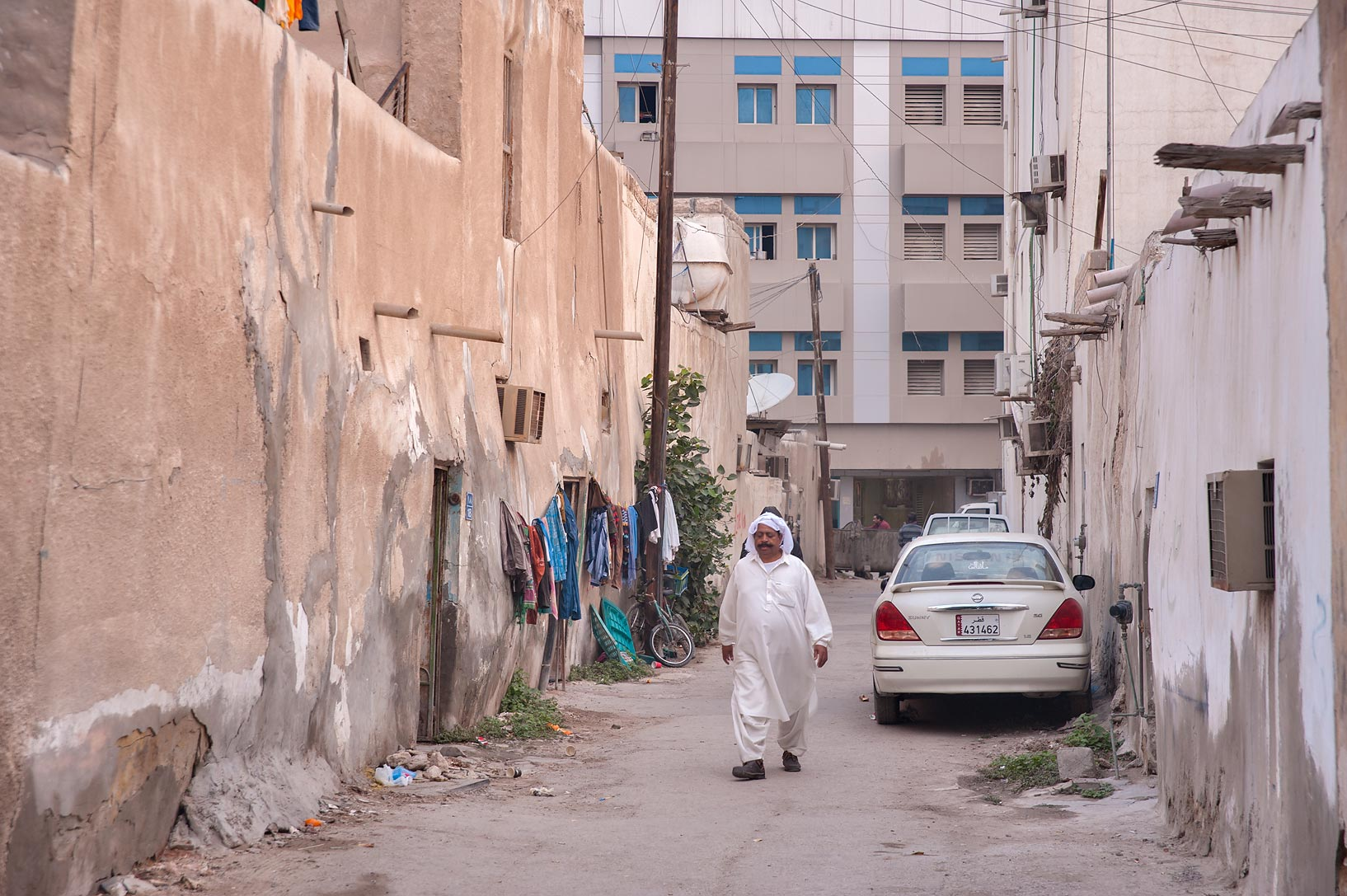 Area of Umm Wishad St. in Musheirib neighborhood. Doha, Qatar