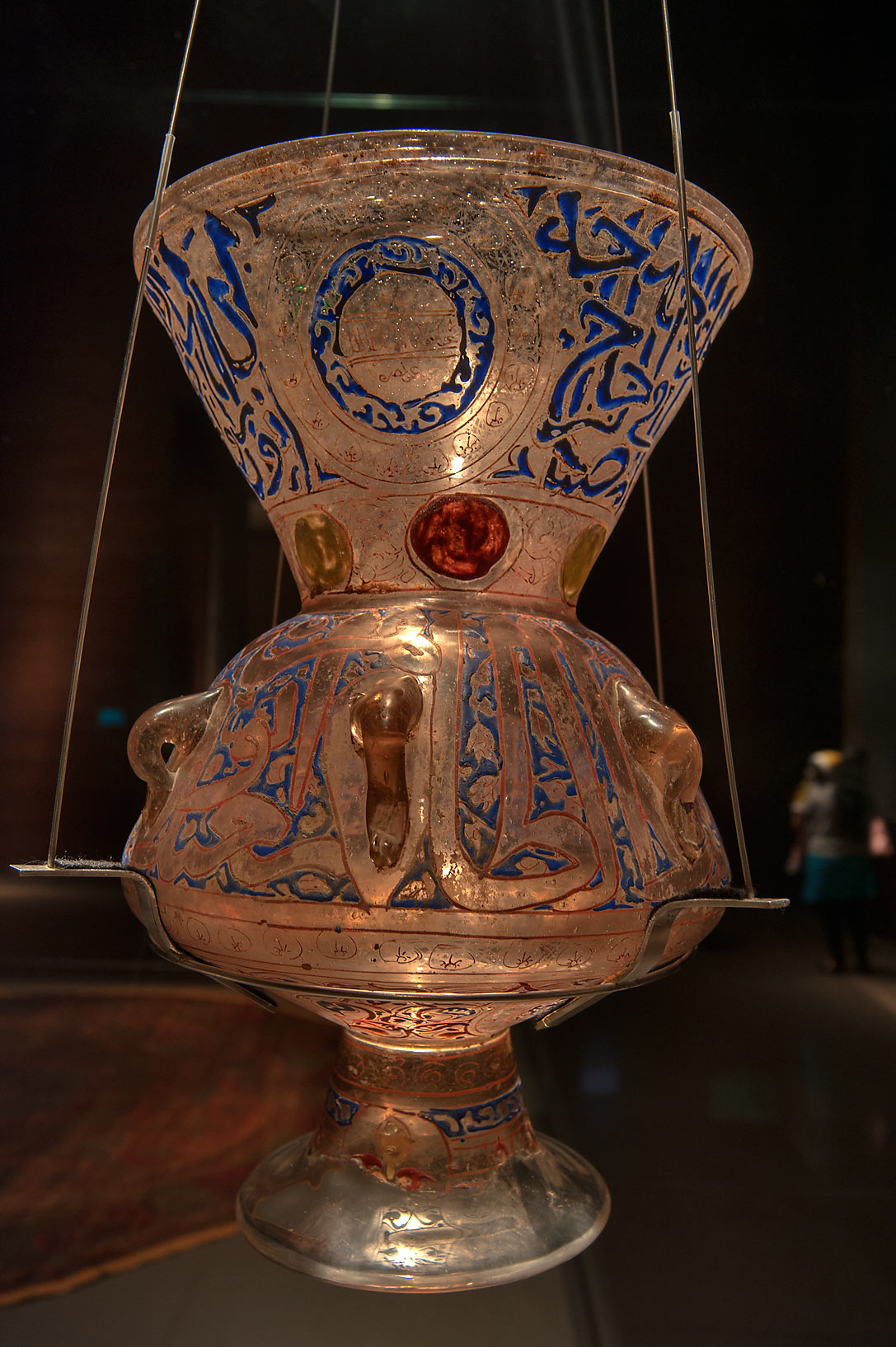 Egyptian mosque lamp of Museum of Islamic Art. Doha, Qatar