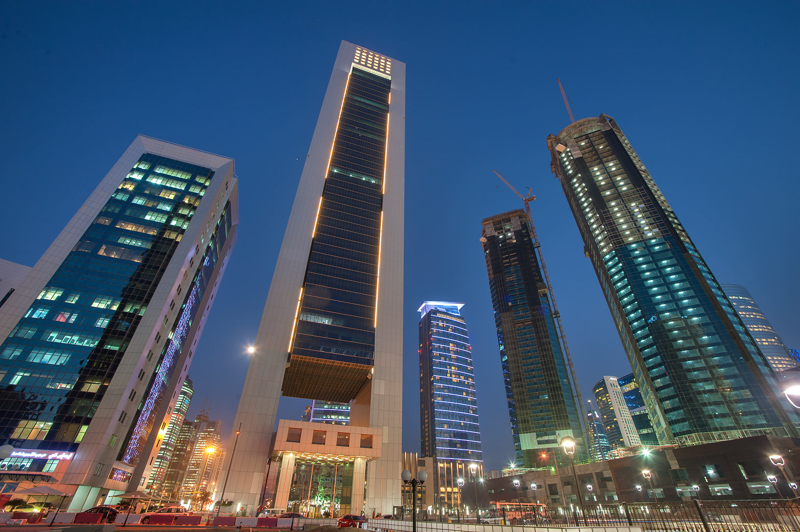 West Bay in Doha-southern Qatar  - Faisal Tower in West Bay. Doha, Qatar