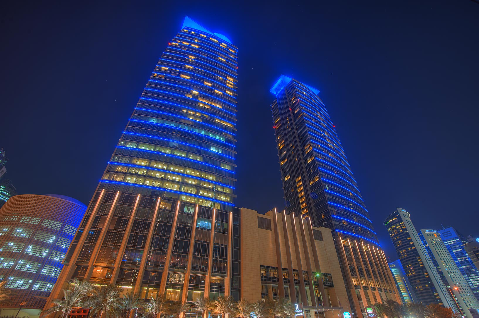 Marriott Hotel complex at City Center in West Bay. Doha, Qatar