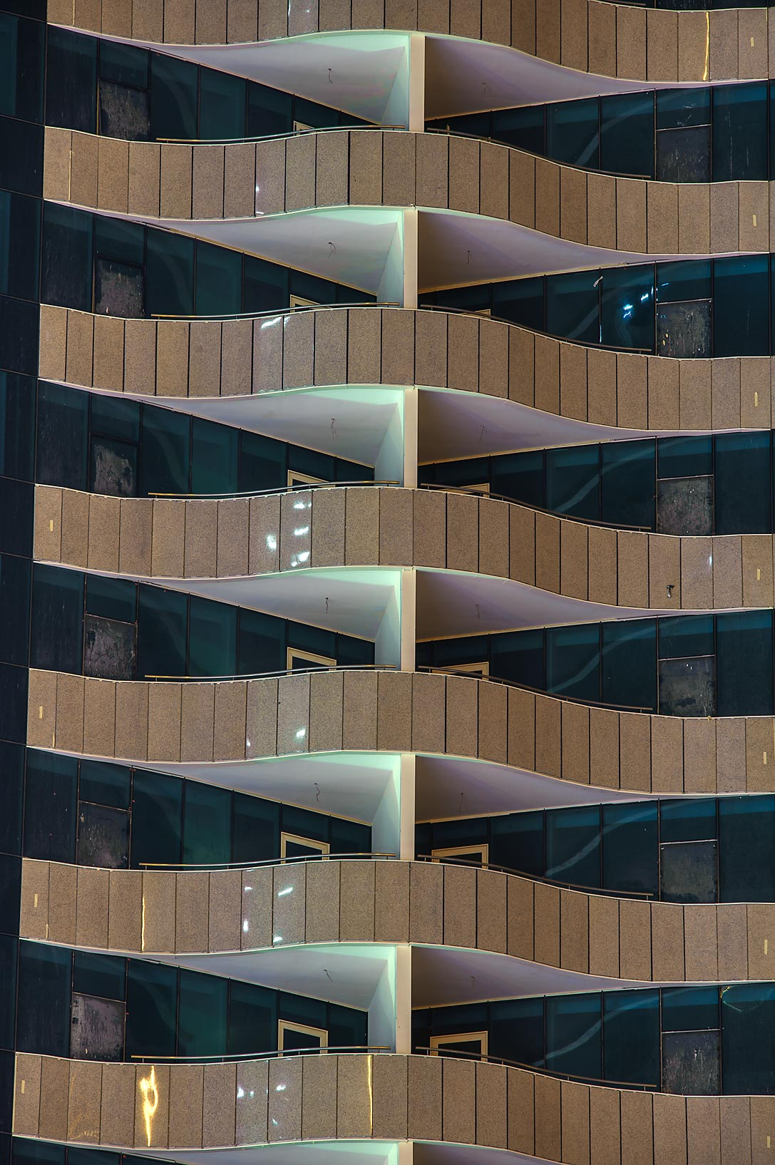 Balconies in West Bay from Q-Shield head Offices St.. Doha, Qatar