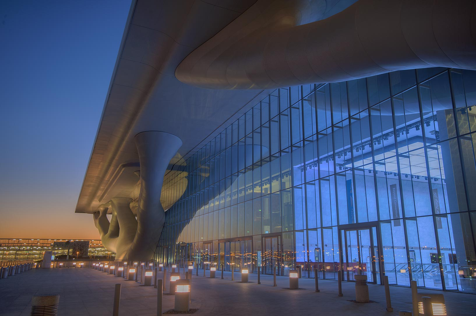Entrance of National Convention Centre (QNCC). Doha, Qatar