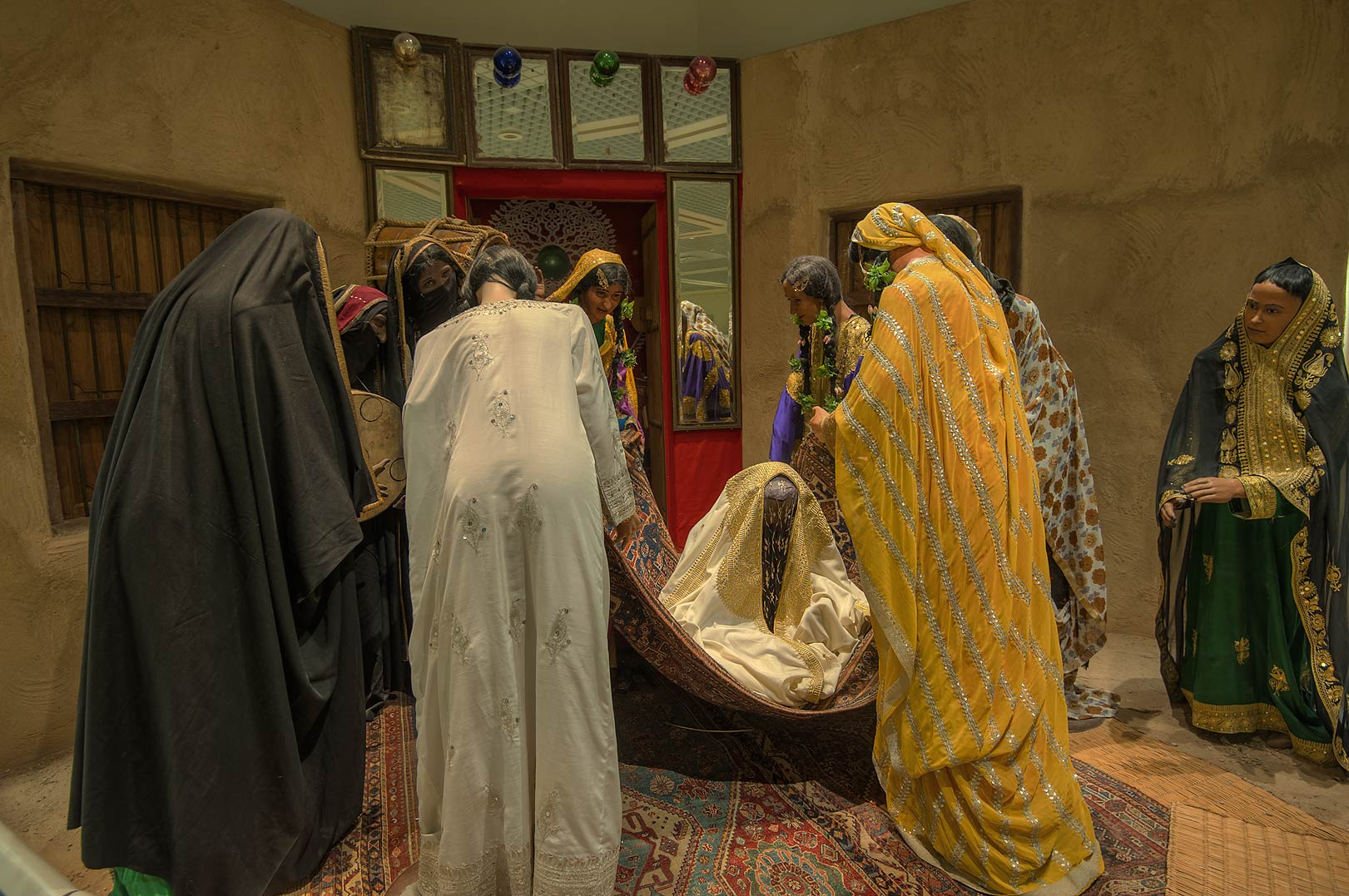 Exhibition of wedding traditions in Bahrain National Museum. Manama, Bahrain