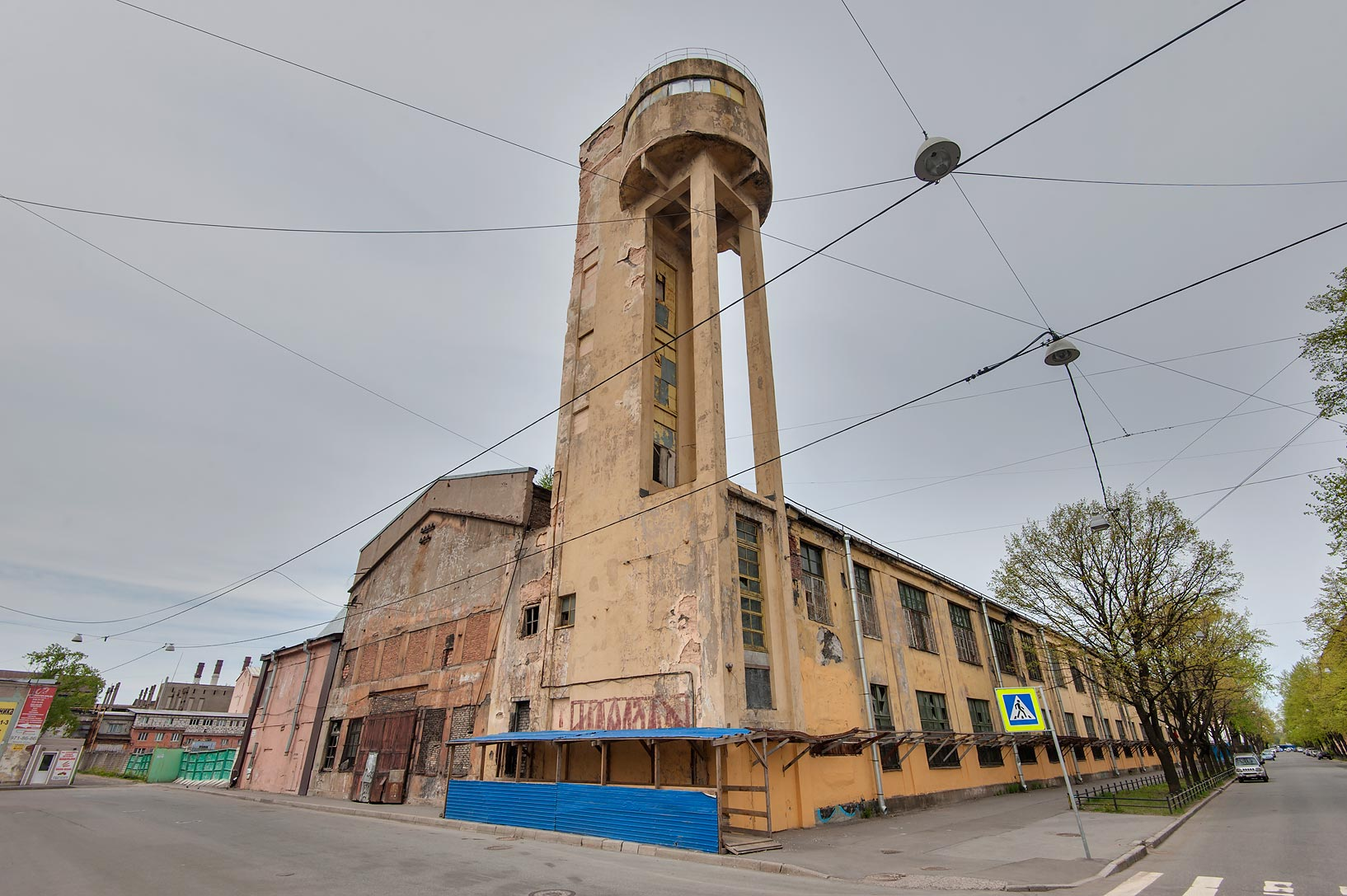 Water tower (1930-1931) of Red Nailmaker Factory...Island. St.Petersburg, Russia
