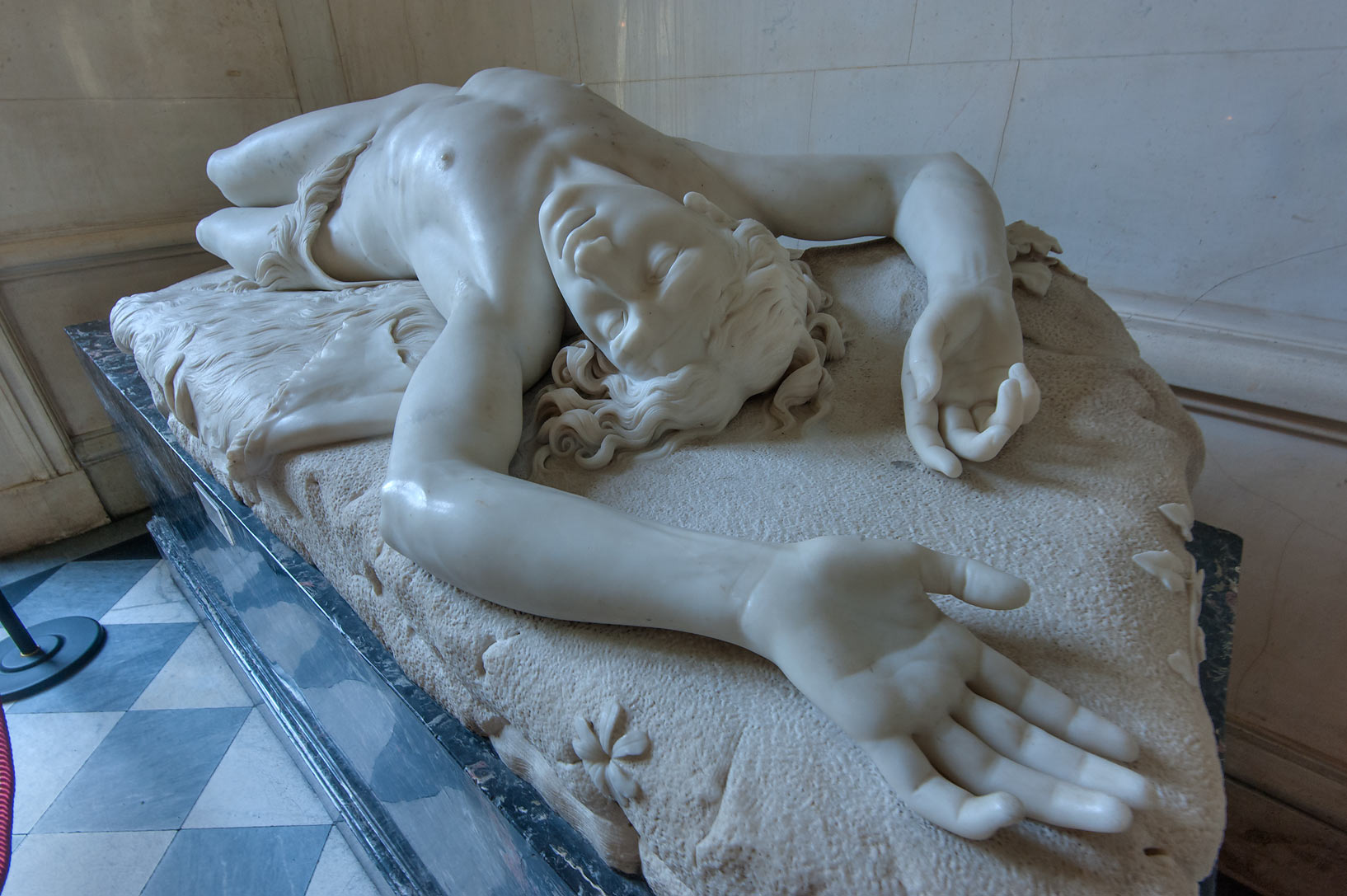Sculpture of Avel by Giovanni Dupre above Main...Museum. St.Petersburg, Russia