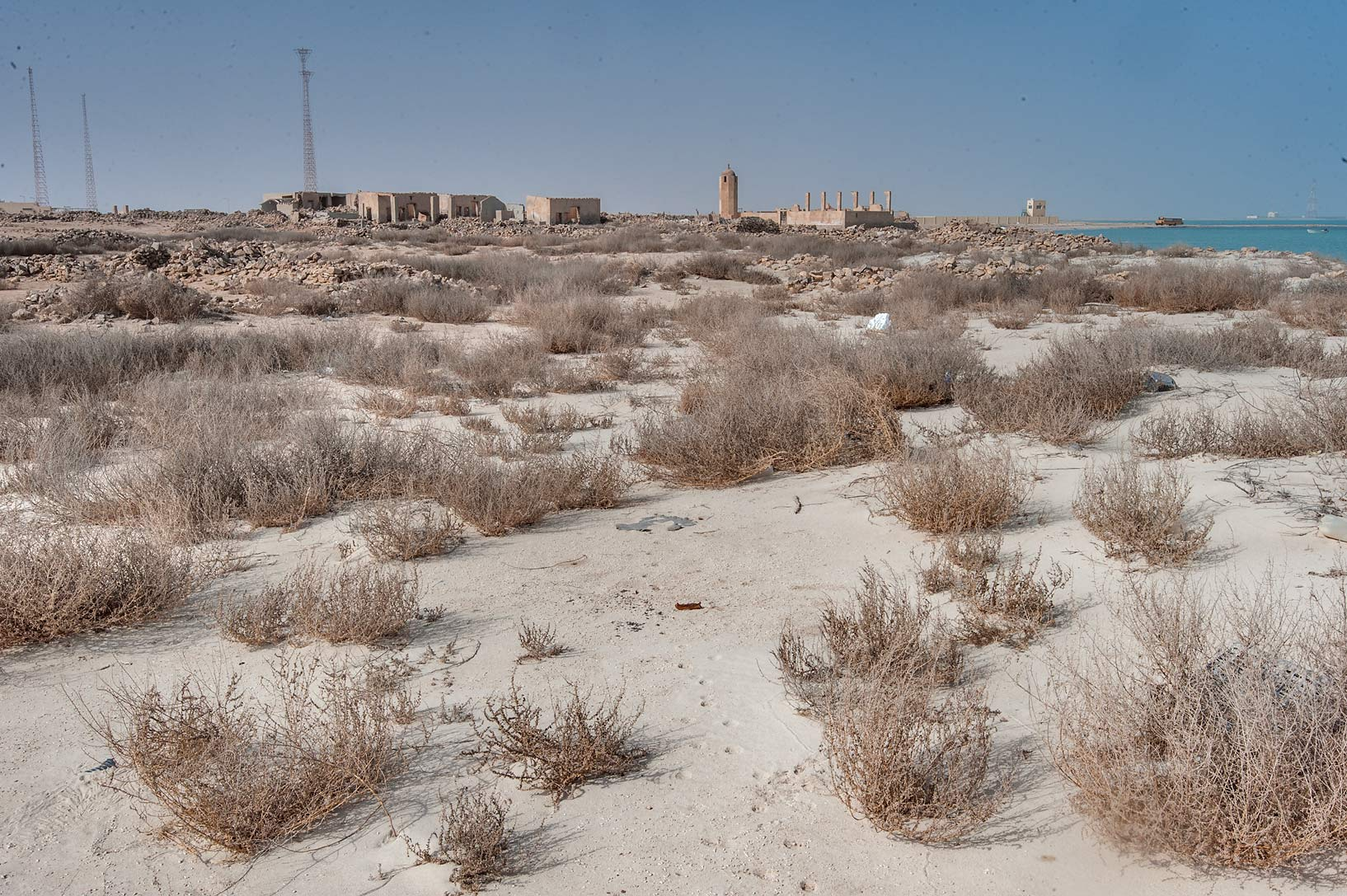 Old fishing village (ghost town) of Al Khuwair...from Lekhwair on northern coast. Qatar
