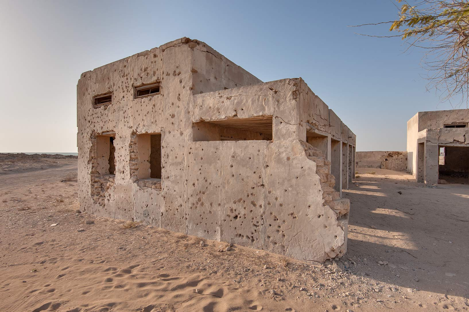 Ruins of a school in old fishing village (ghost...eastern coast, Ash Shamal area. Qatar