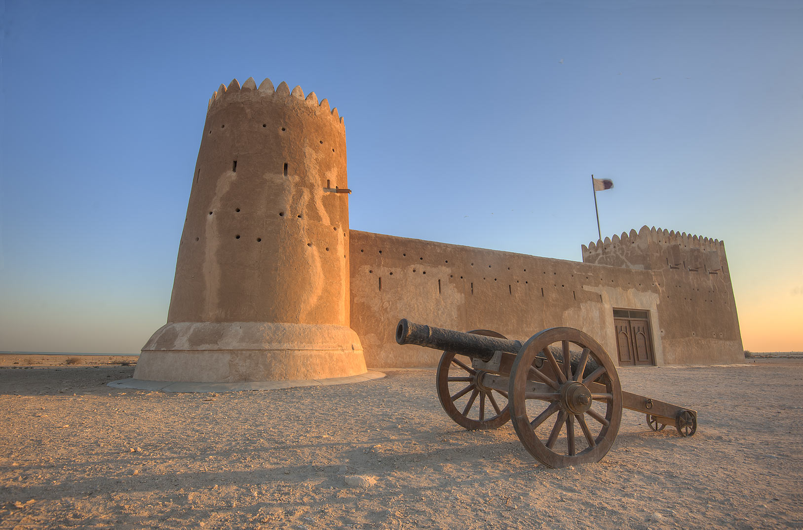 Reconstructed Zubara Fort on northwest coast. Qatar