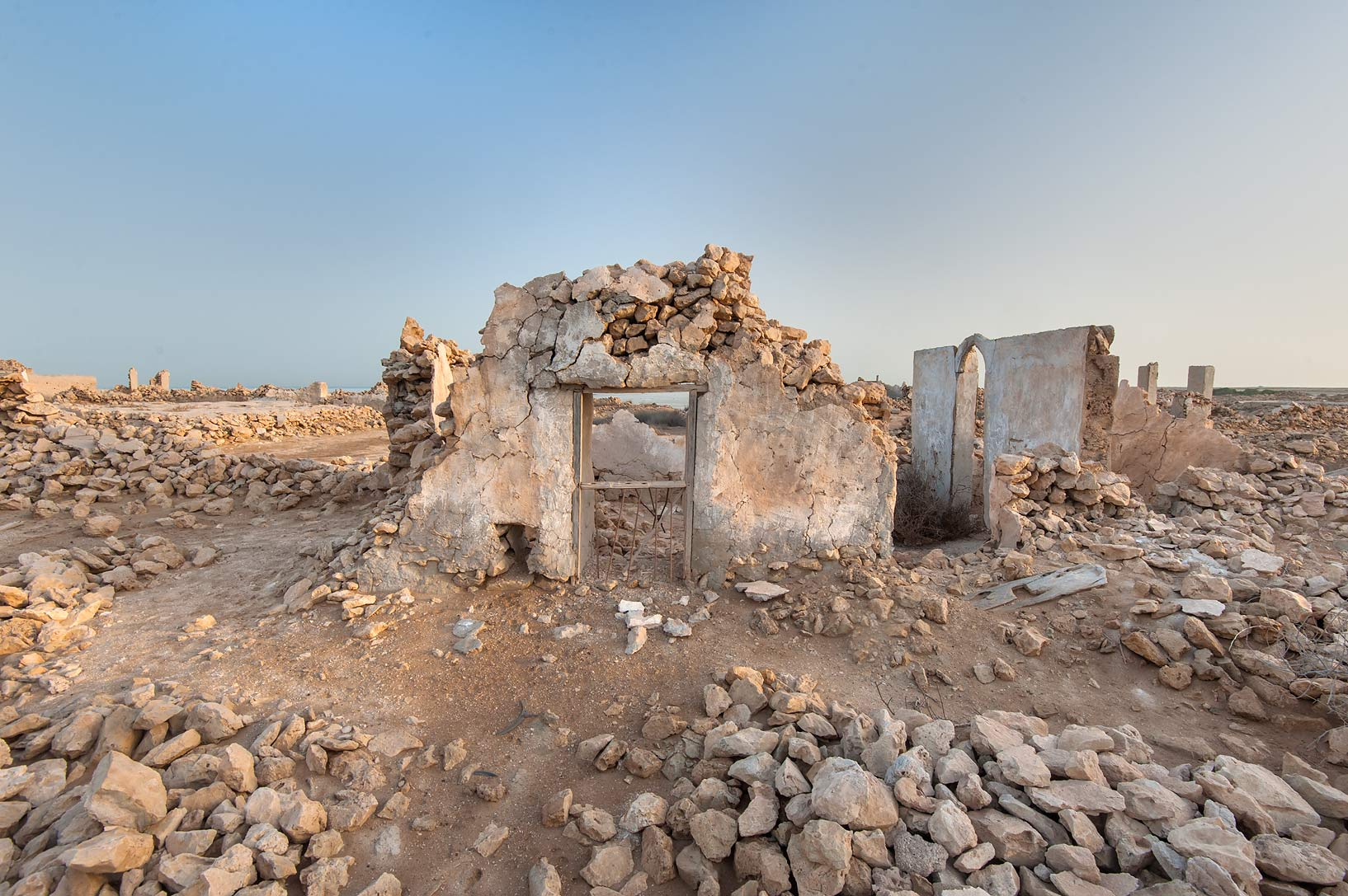 Window frame in a village of Al Jumail (Jumayl) west of Ruwais. Northern Qatar