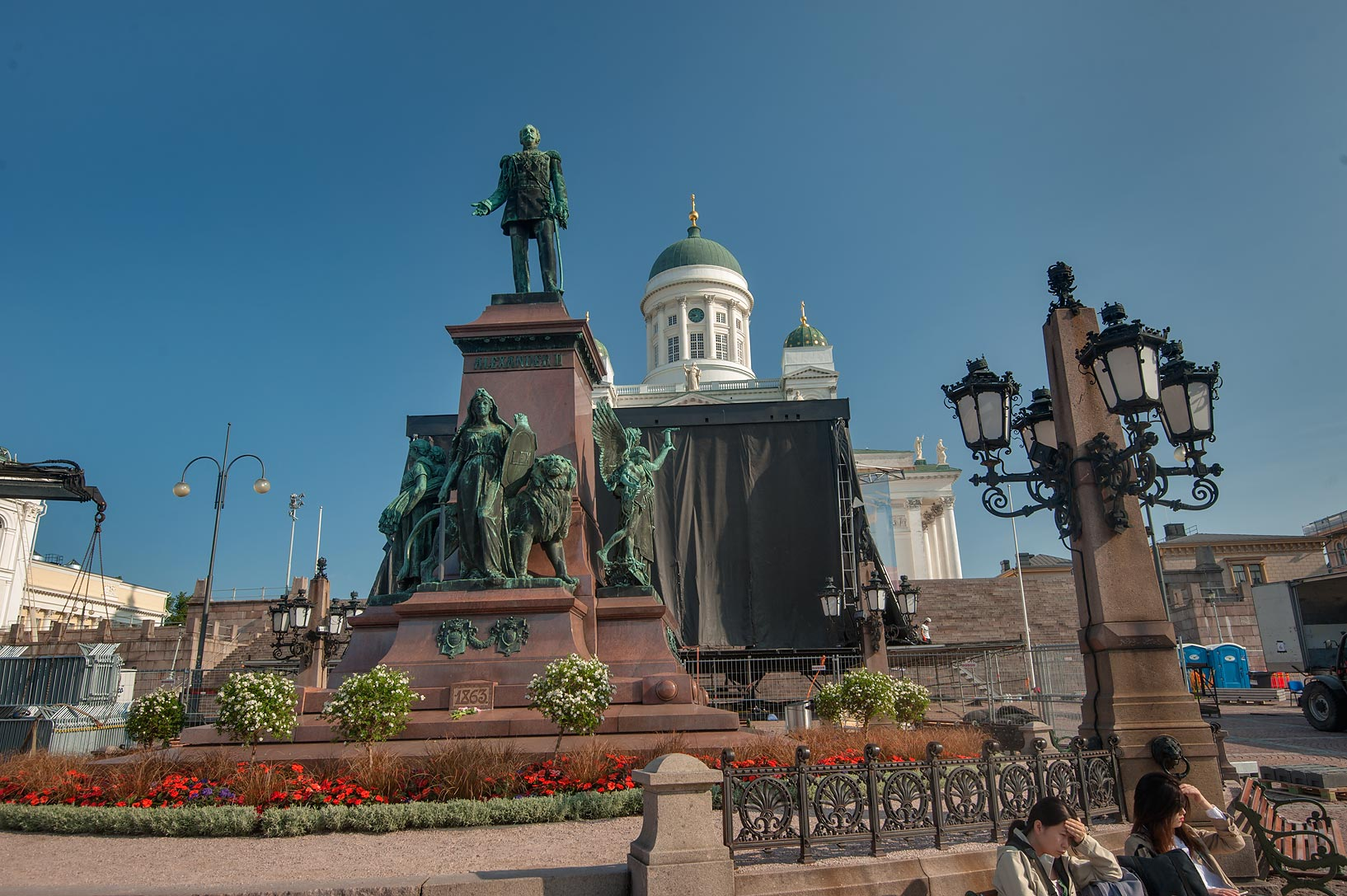Statue of Alexander II on Senate Square. Helsinki, Finland